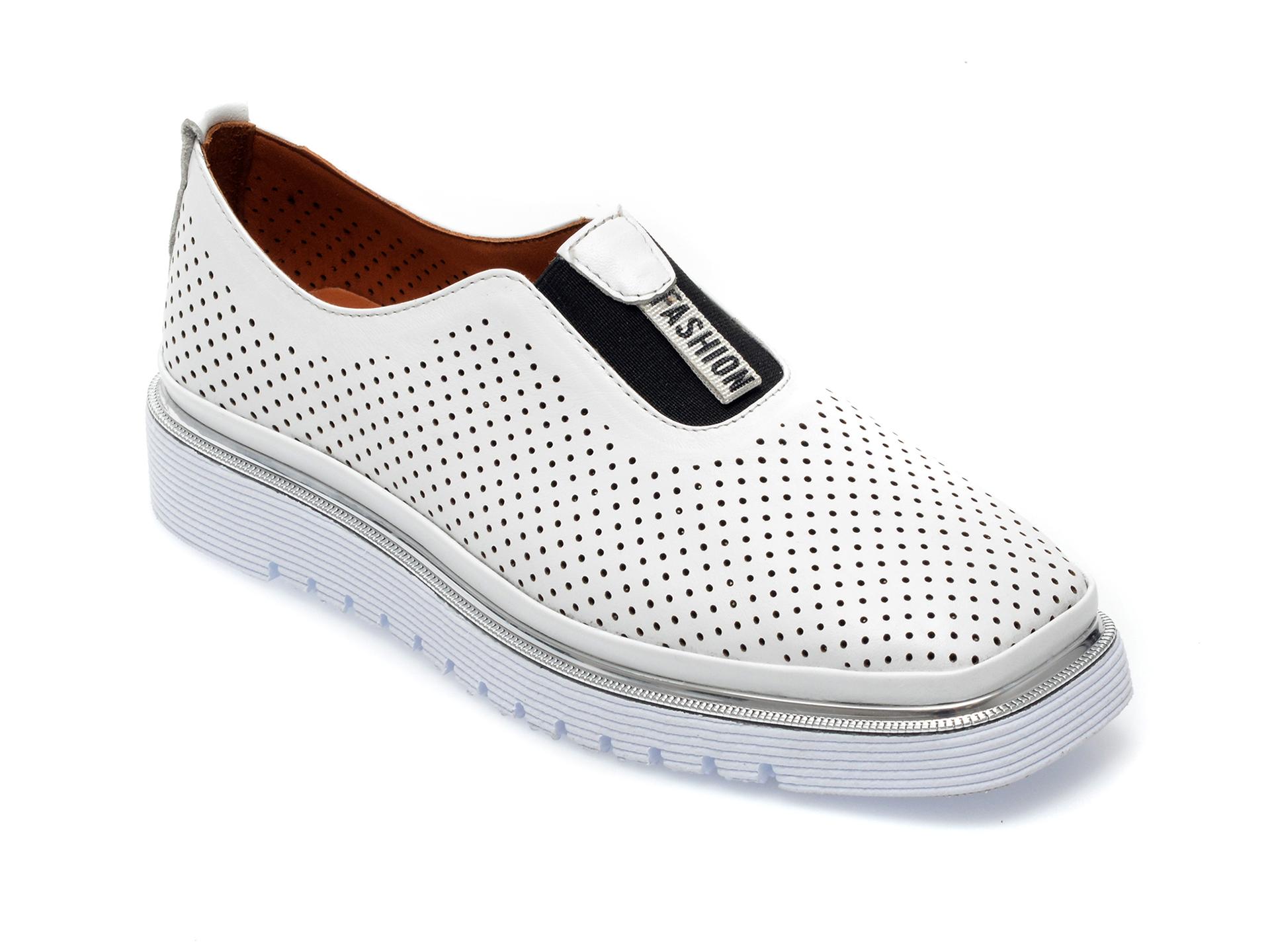 Pantofi FLAVIA PASSINI albi, 993102, din piele naturala imagine otter.ro 2021