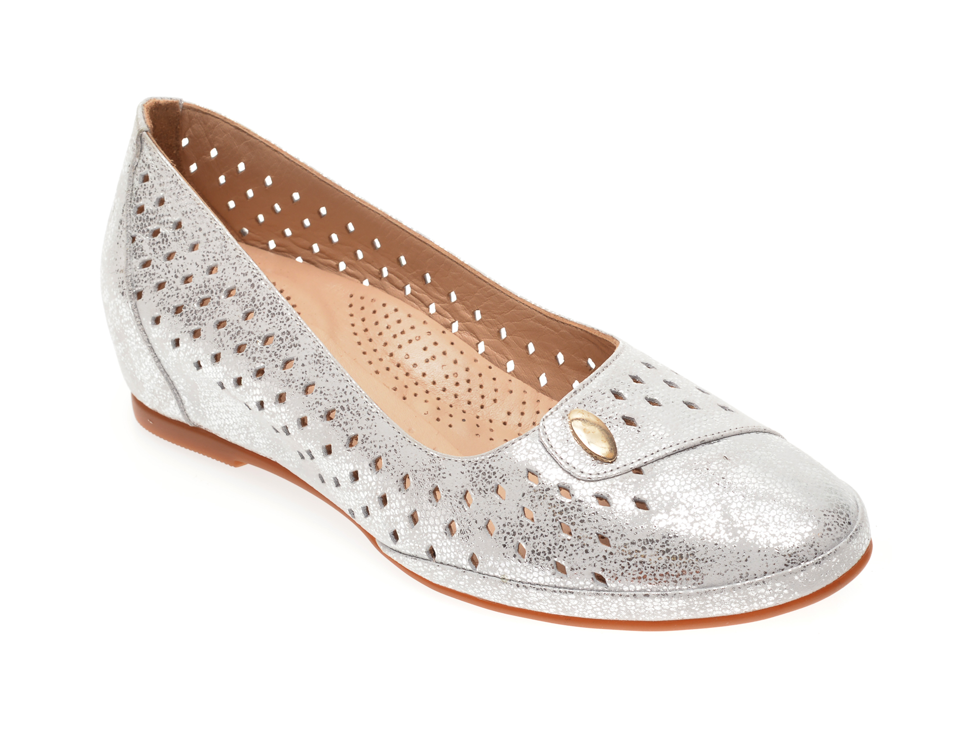 Pantofi FLAVIA PASSINI argintii, 0105015, din piele naturala