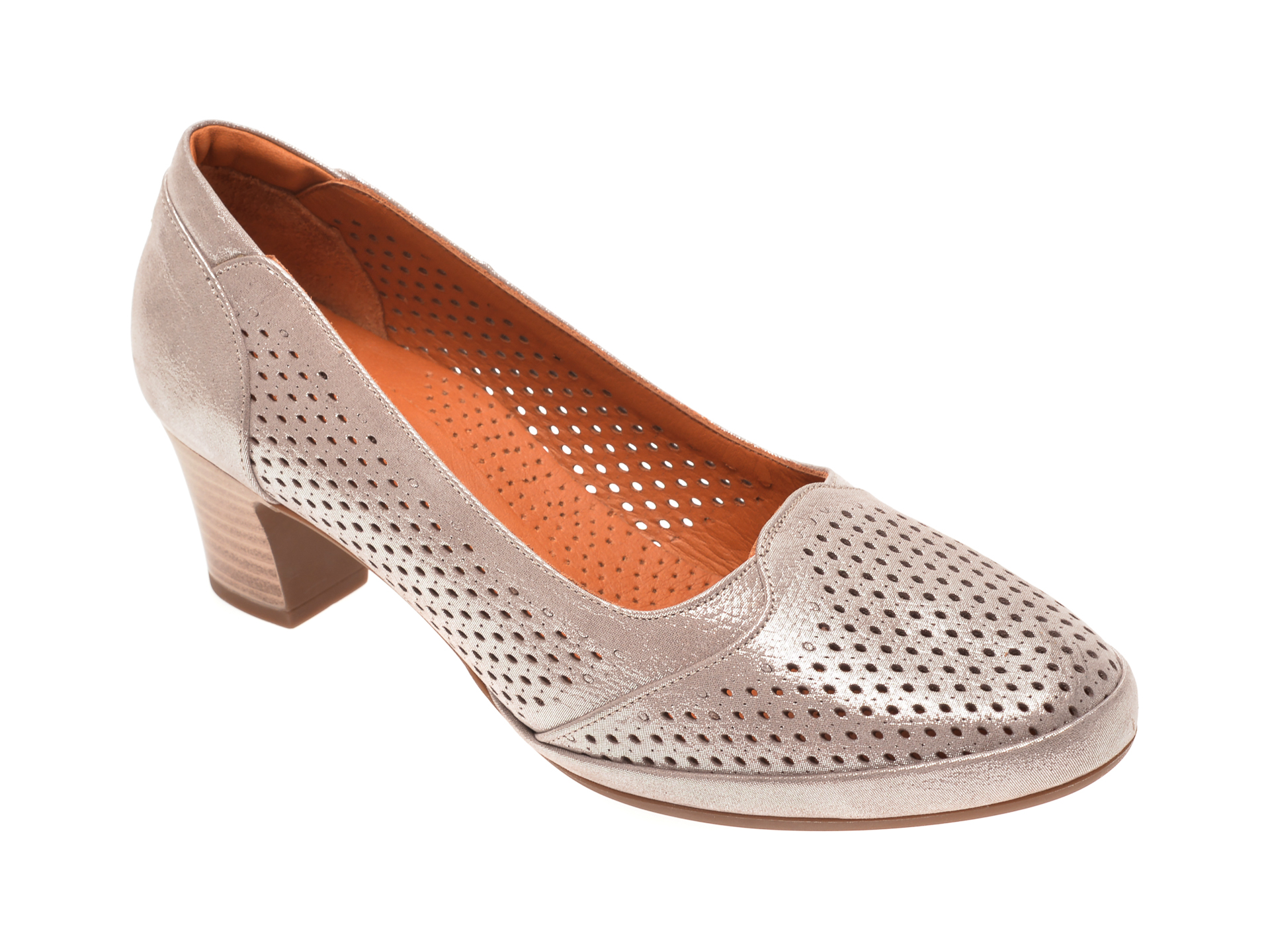 Pantofi FLAVIA PASSINI argintii, 0105127, din piele naturala imagine