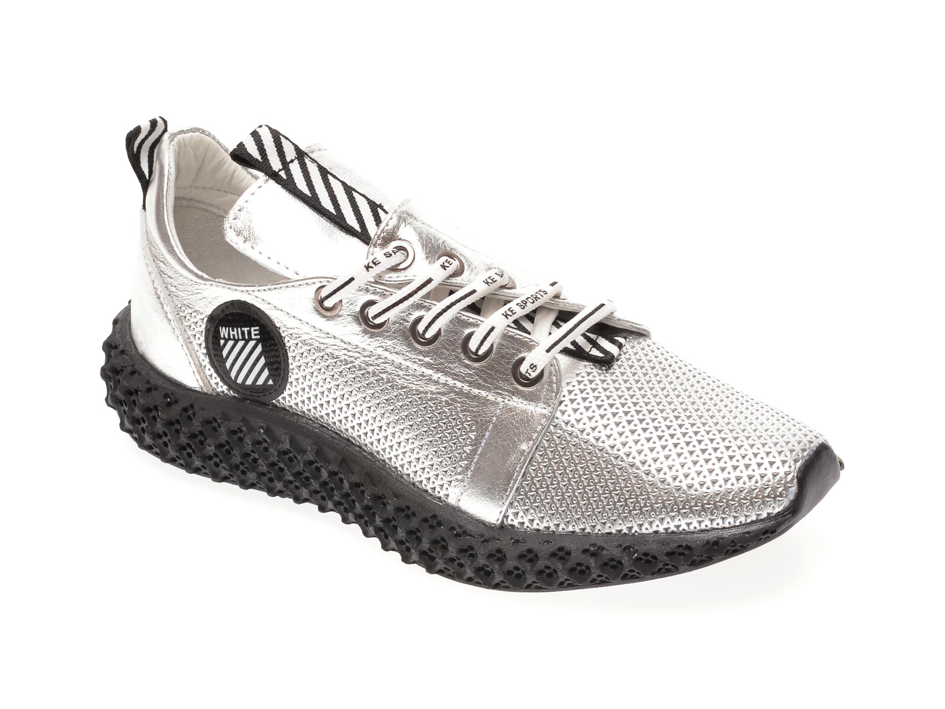 Pantofi FLAVIA PASSINI argintii, 022600, din piele naturala