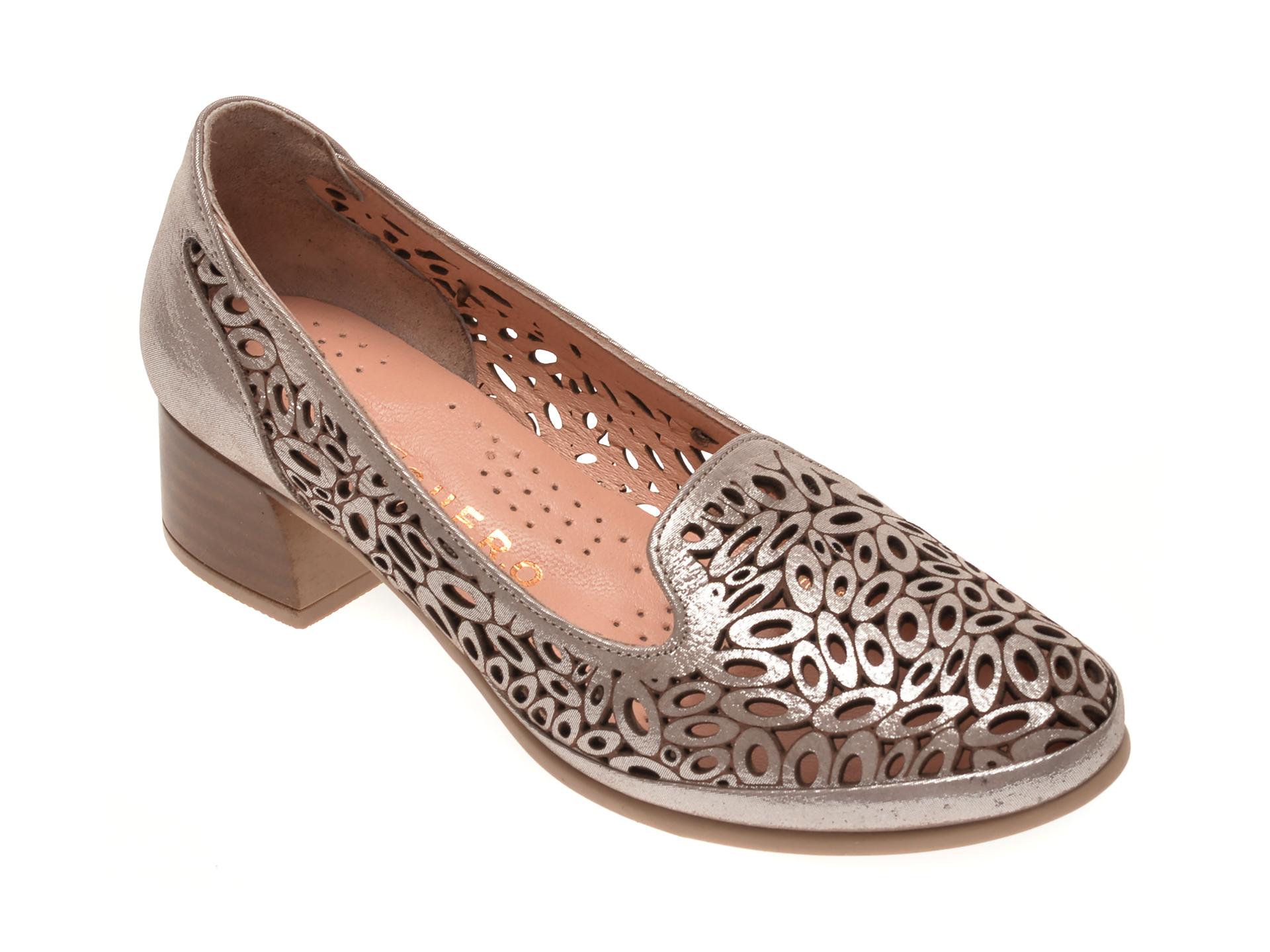 Pantofi FLAVIA PASSINI argintii, 084151, din piele naturala