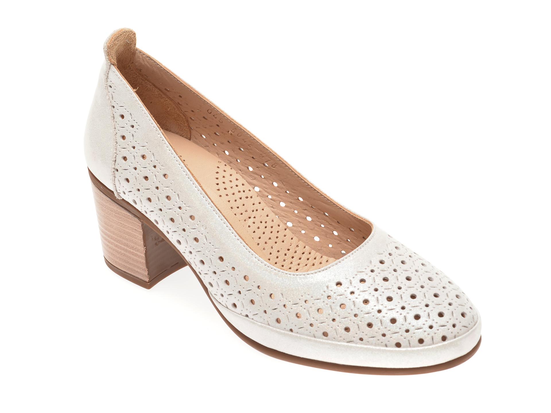 Pantofi FLAVIA PASSINI argintii, 1015042, din piele naturala