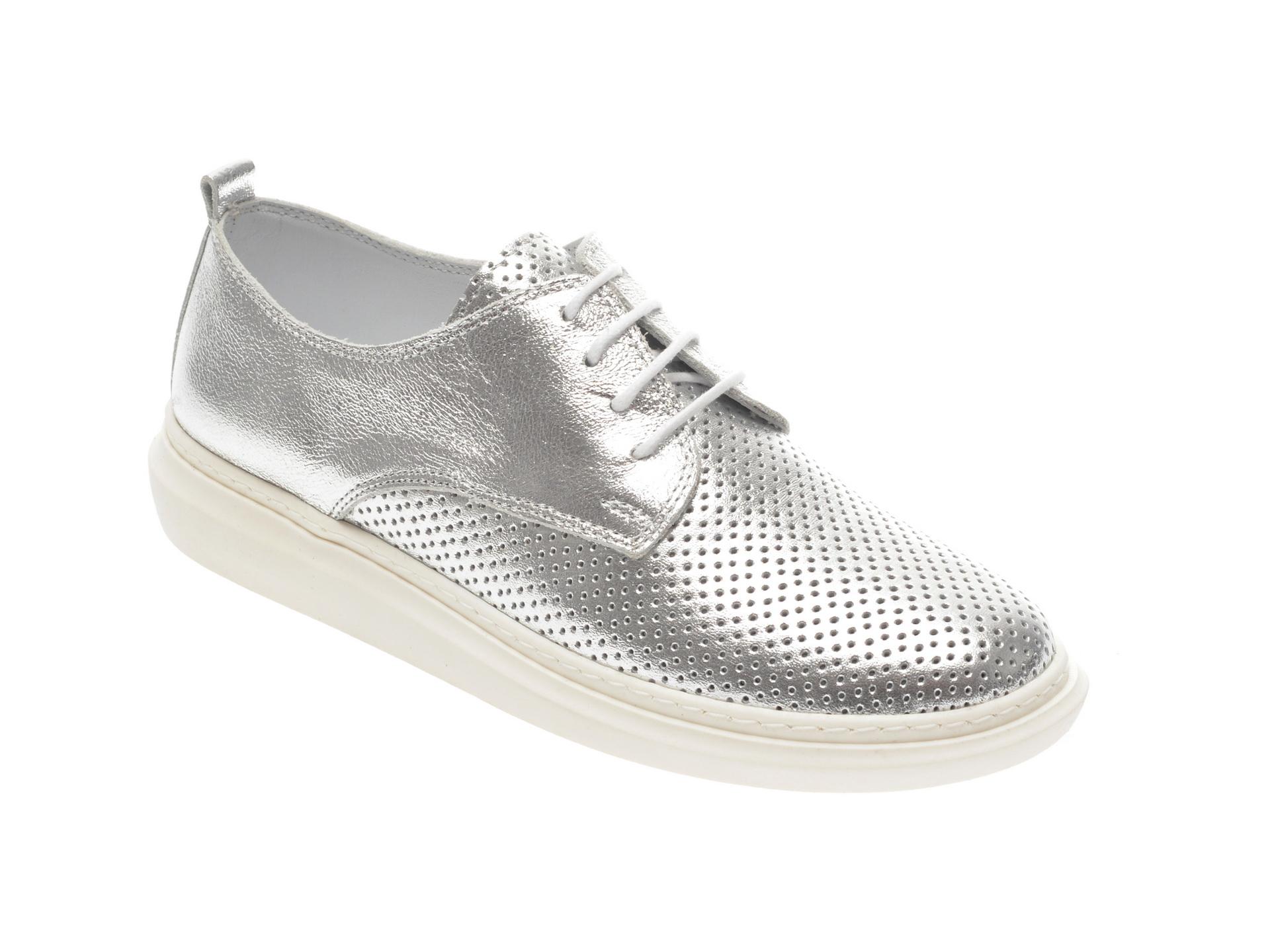 Pantofi FLAVIA PASSINI argintii, 1022022, din piele naturala