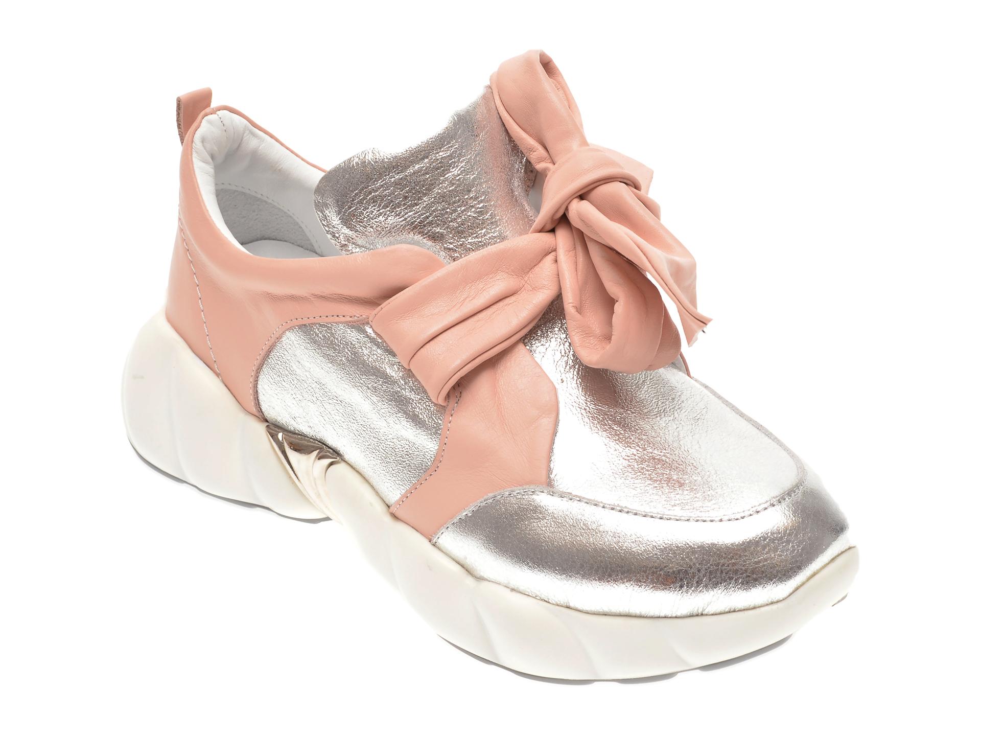 Pantofi FLAVIA PASSINI argintii, 135P101, din piele naturala