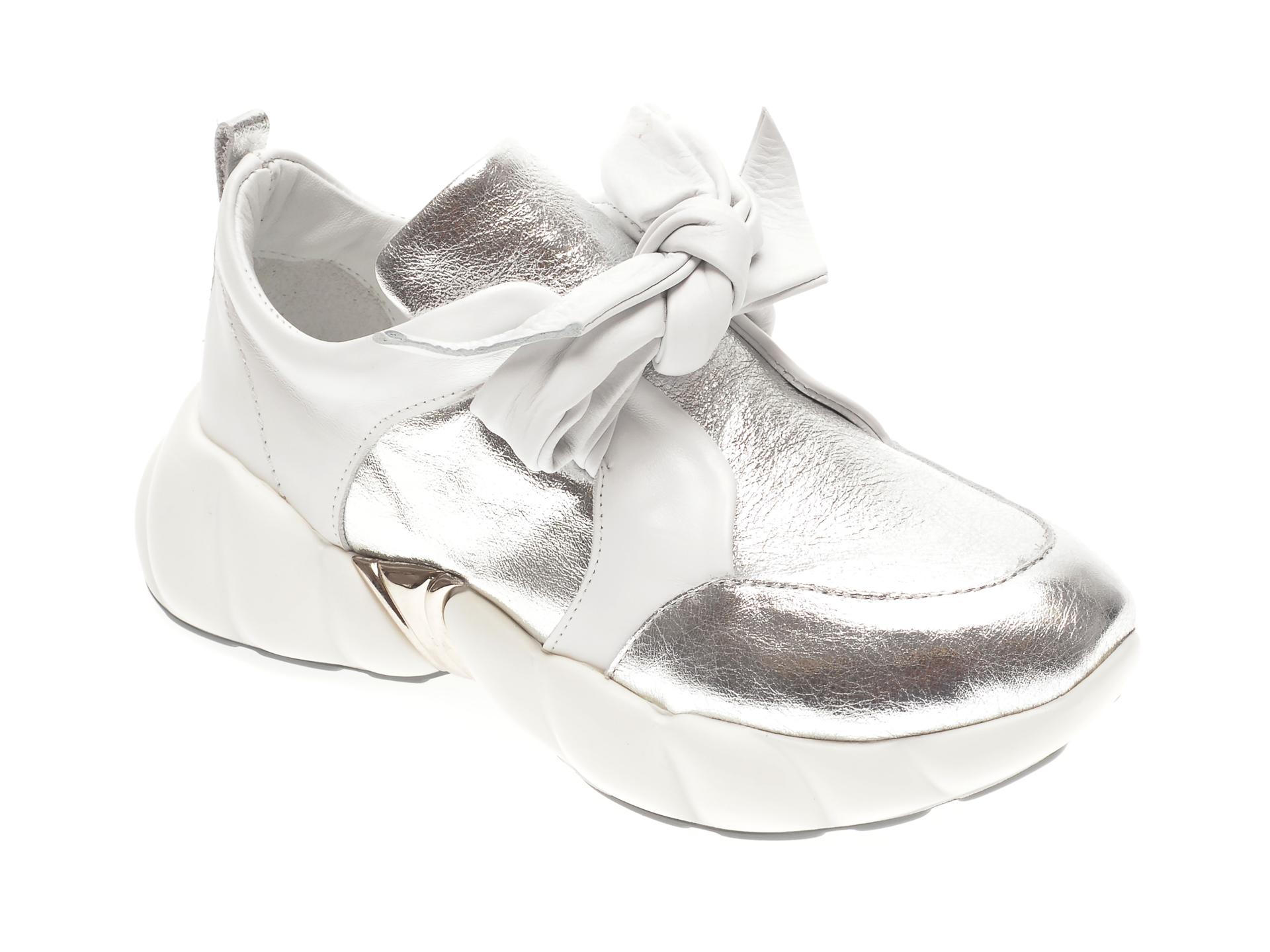 Pantofi FLAVIA PASSINI argintii, 291VANN, din piele naturala