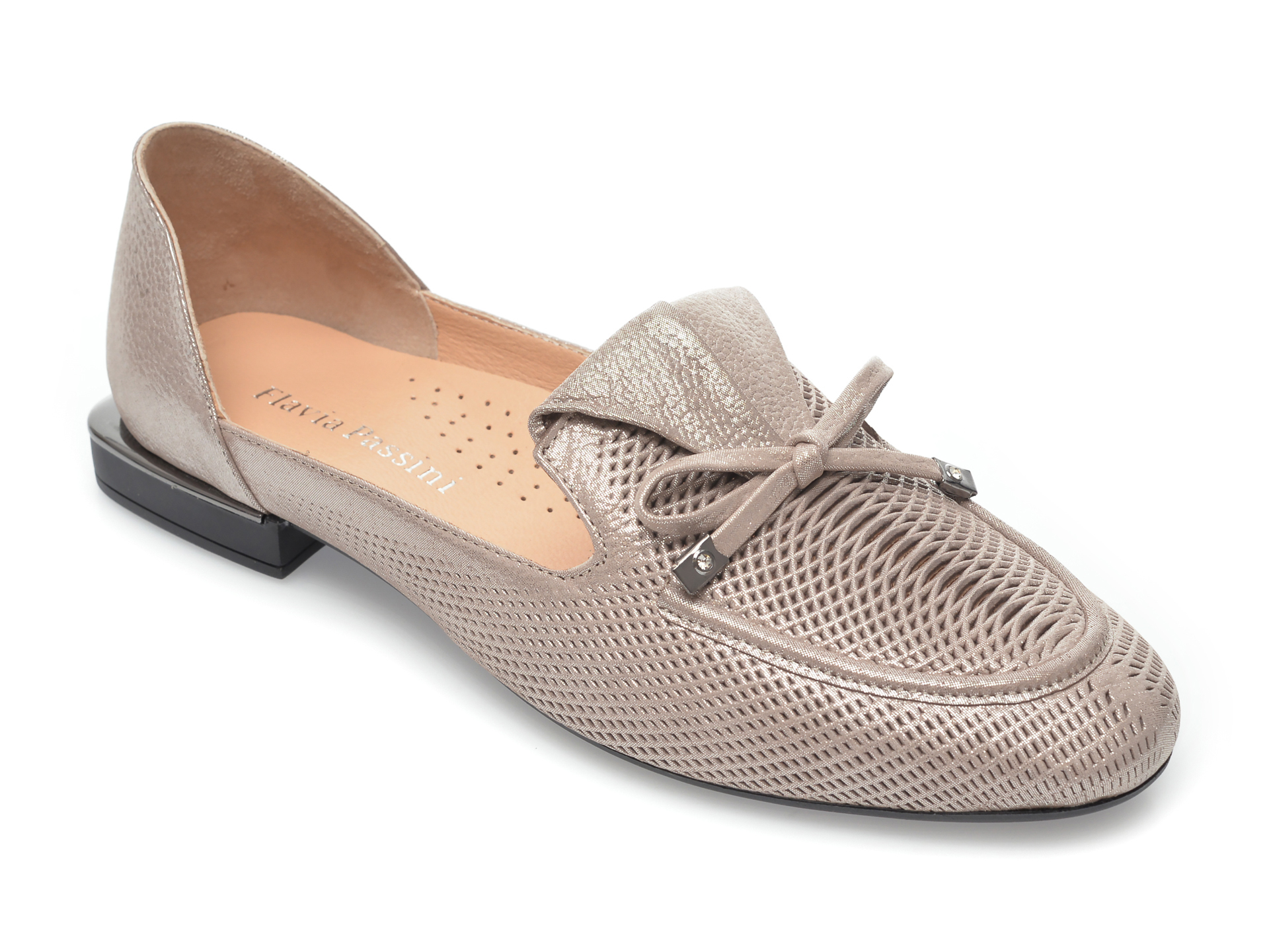 Pantofi FLAVIA PASSINI argintii, 5233, din piele naturala imagine otter.ro