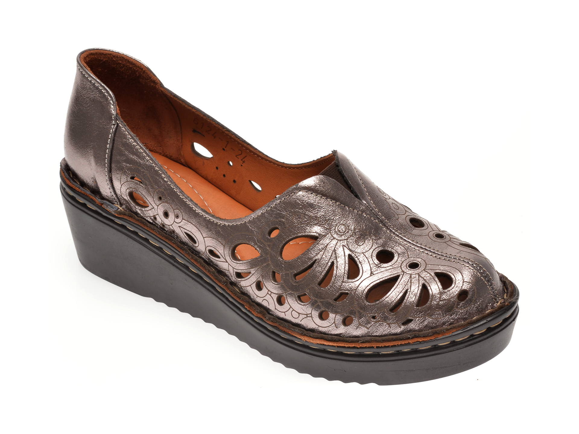 Pantofi FLAVIA PASSINI argintii, 61241, din piele naturala