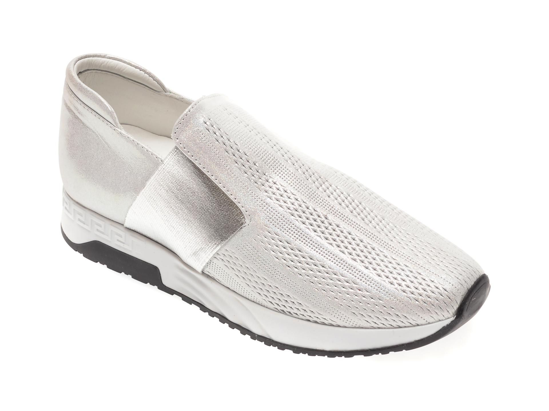 Pantofi FLAVIA PASSINI argintii, 61367, din piele naturala
