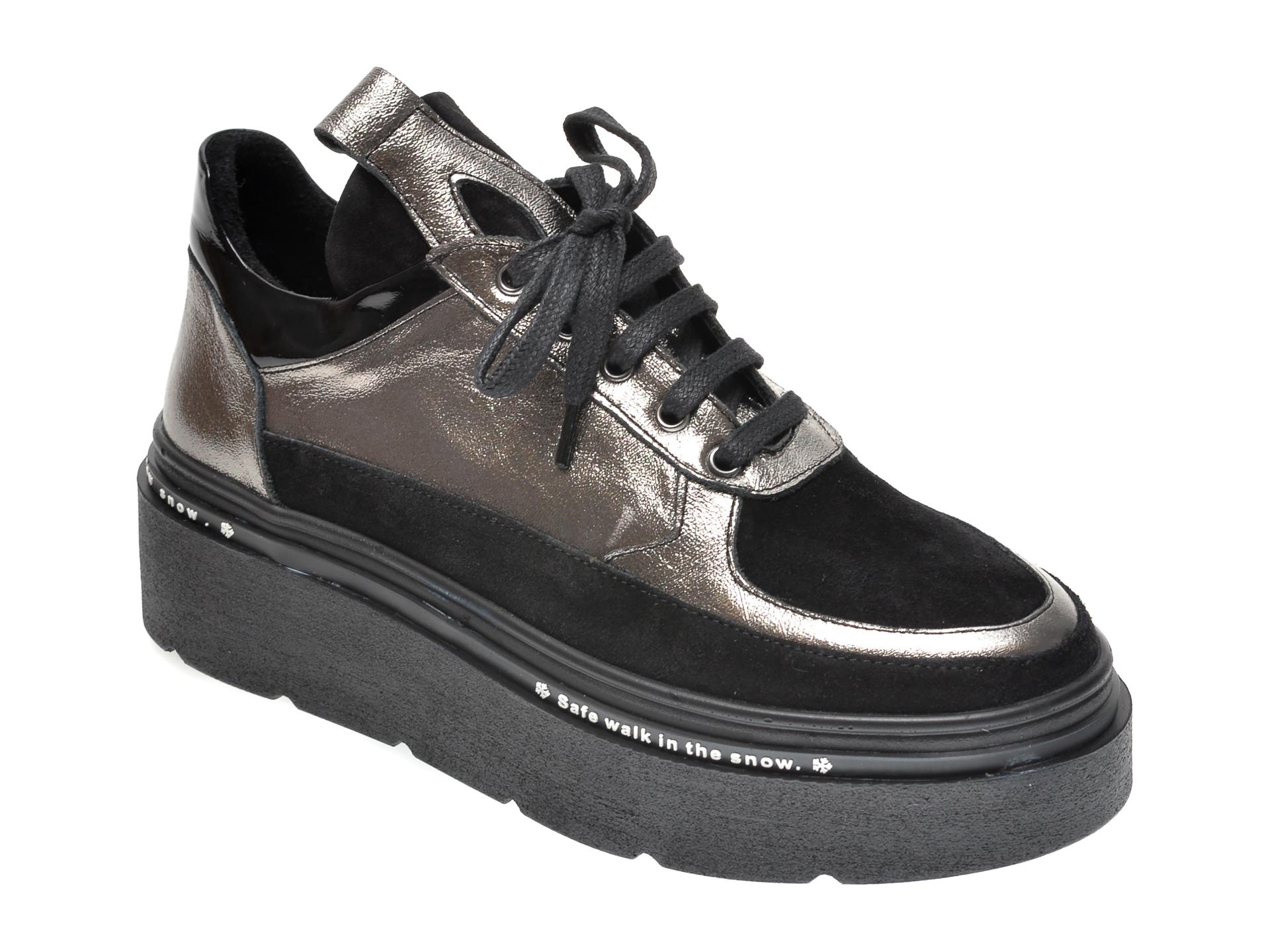 Pantofi FLAVIA PASSINI argintii, 881012, din piele naturala
