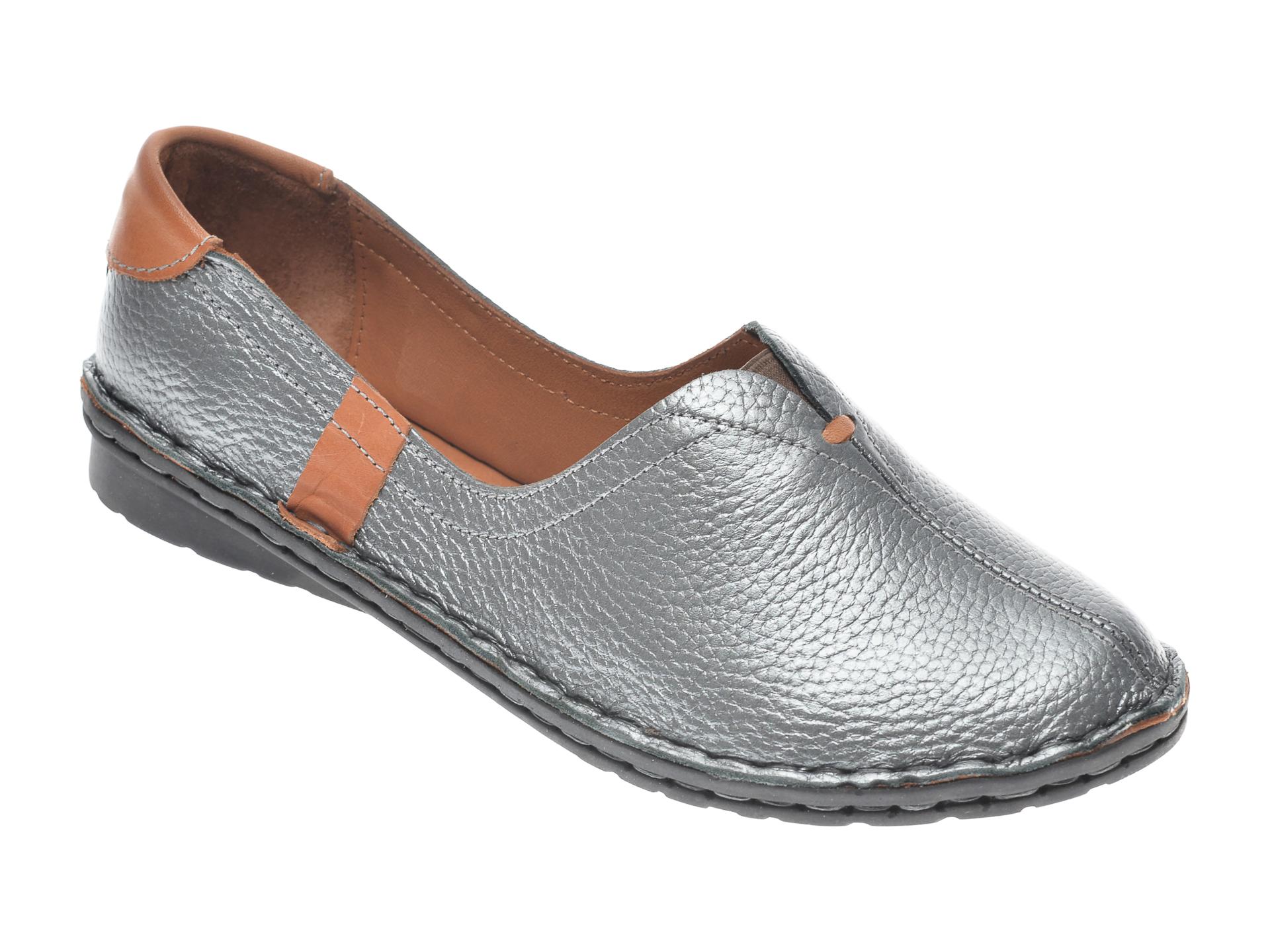 Pantofi FLAVIA PASSINI argintii, 952405, din piele naturala imagine