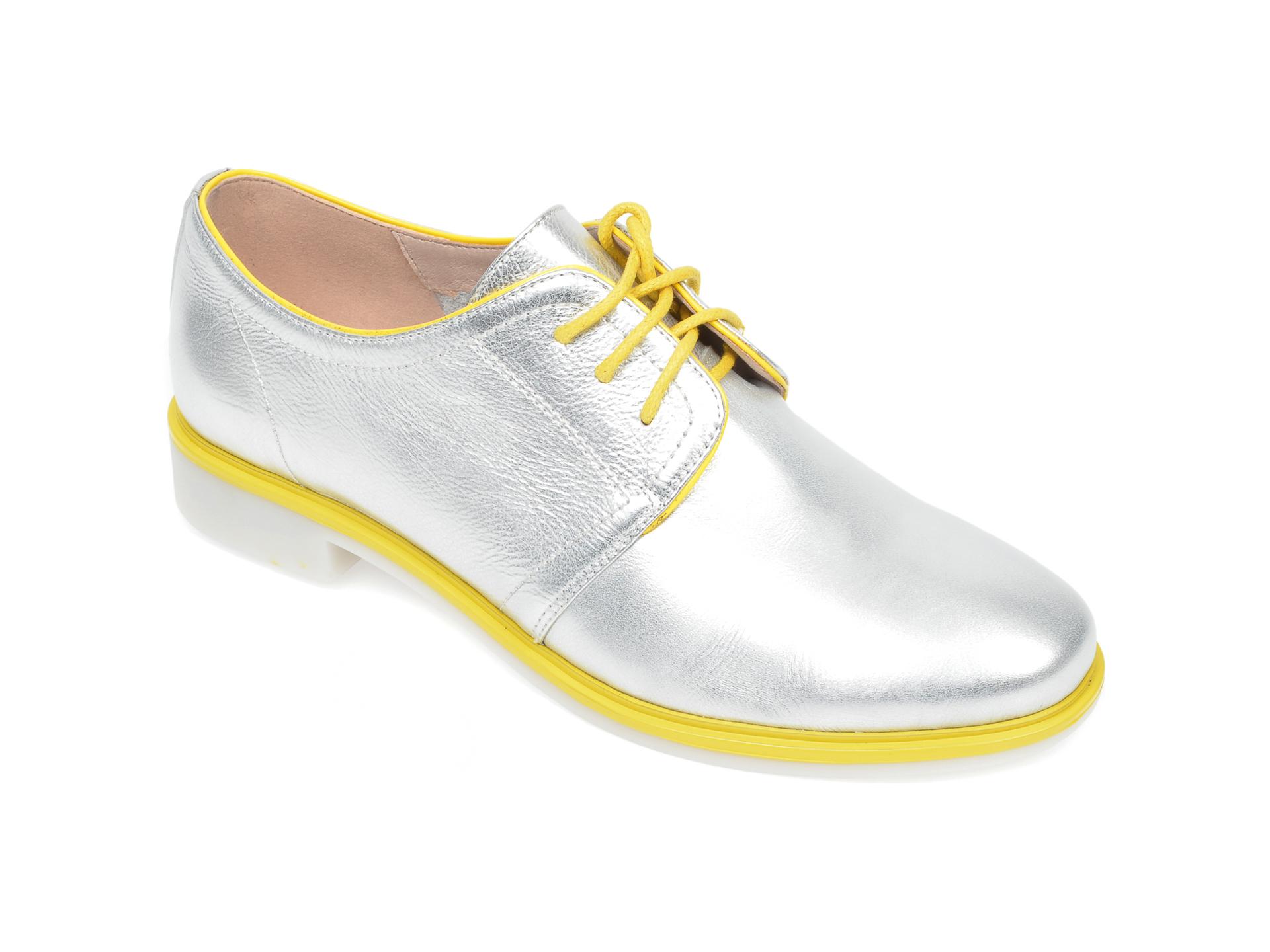 Pantofi FLAVIA PASSINI argintii, H558722, din piele naturala