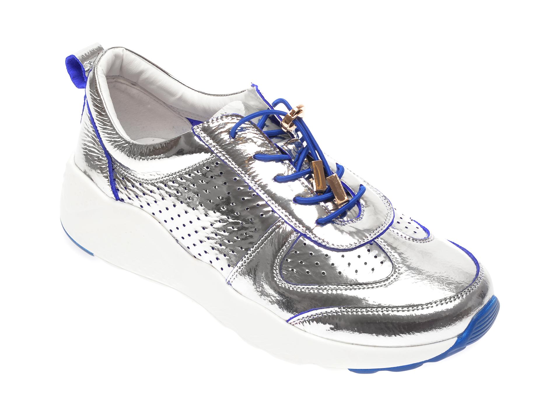 Pantofi FLAVIA PASSINI argintii, JK716L9, din piele naturala
