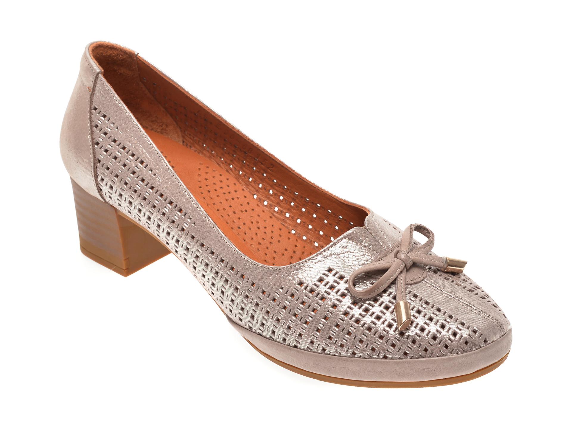 Pantofi FLAVIA PASSINI aurii, 010690, din piele naturala