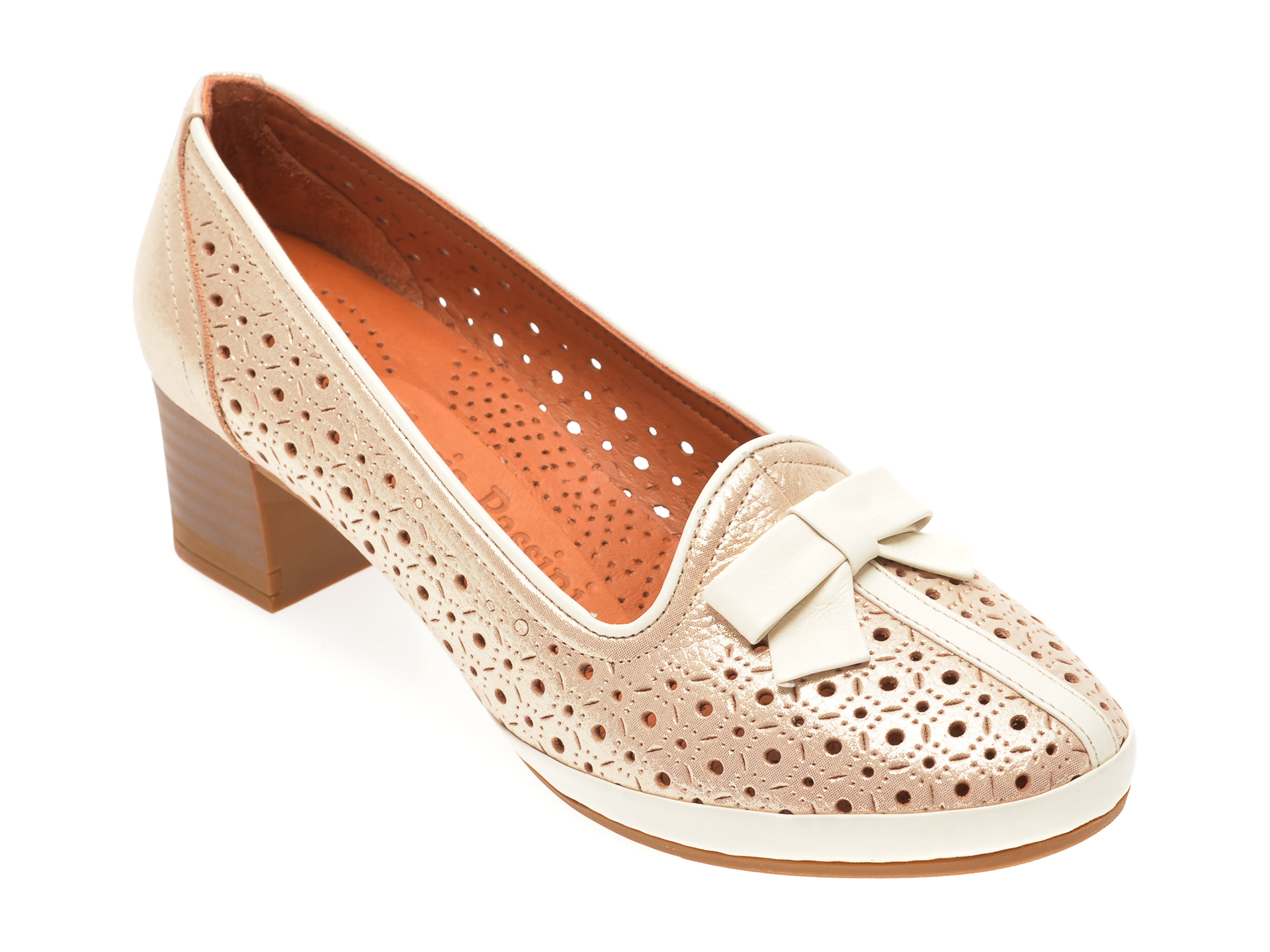 Pantofi FLAVIA PASSINI auriu, 010813, din piele naturala imagine