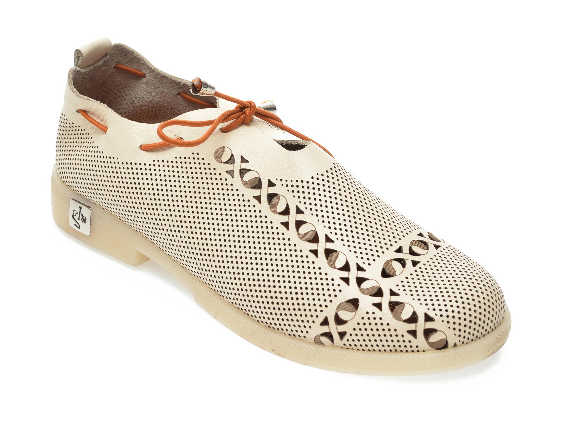 Pantofi FLAVIA PASSINI bej, 021G145, din piele naturala