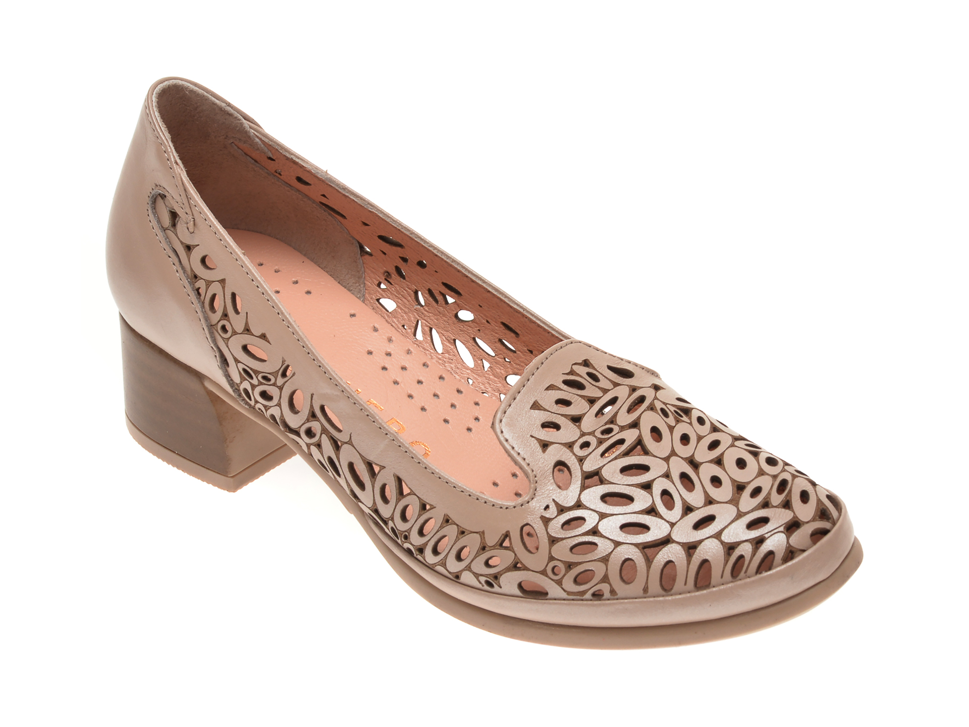 Pantofi FLAVIA PASSINI bej, 084151, din piele naturala imagine