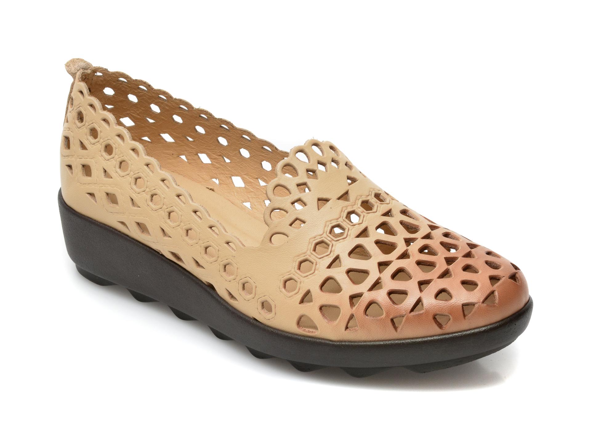 Pantofi FLAVIA PASSINI bej, 1011, din piele naturala imagine otter.ro 2021
