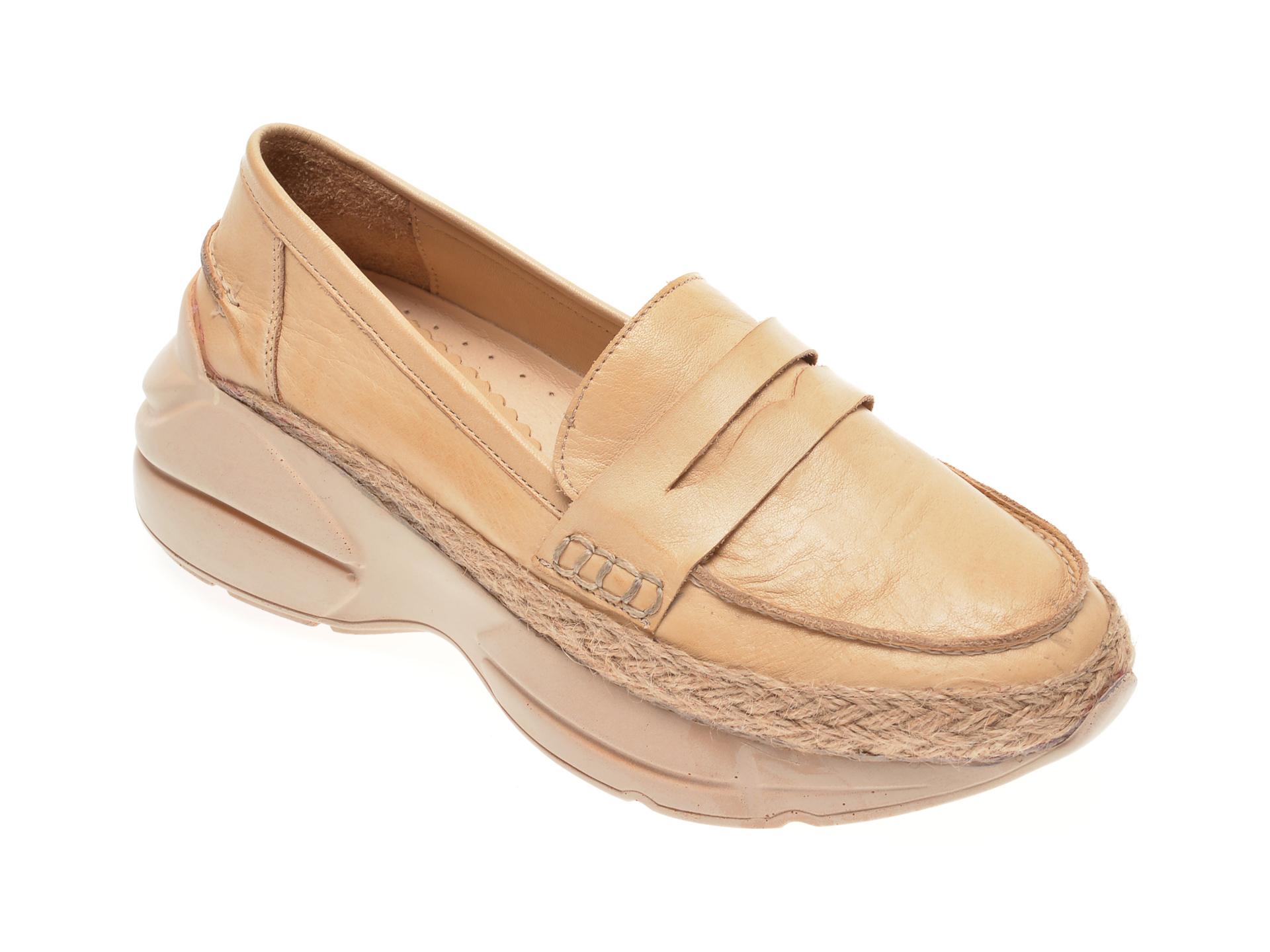 Pantofi FLAVIA PASSINI bej, 125951J, din piele naturala