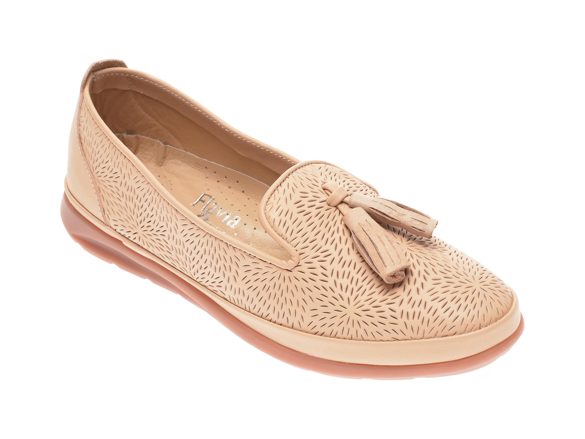 Pantofi FLAVIA PASSINI bej, 14151, din piele naturala imagine