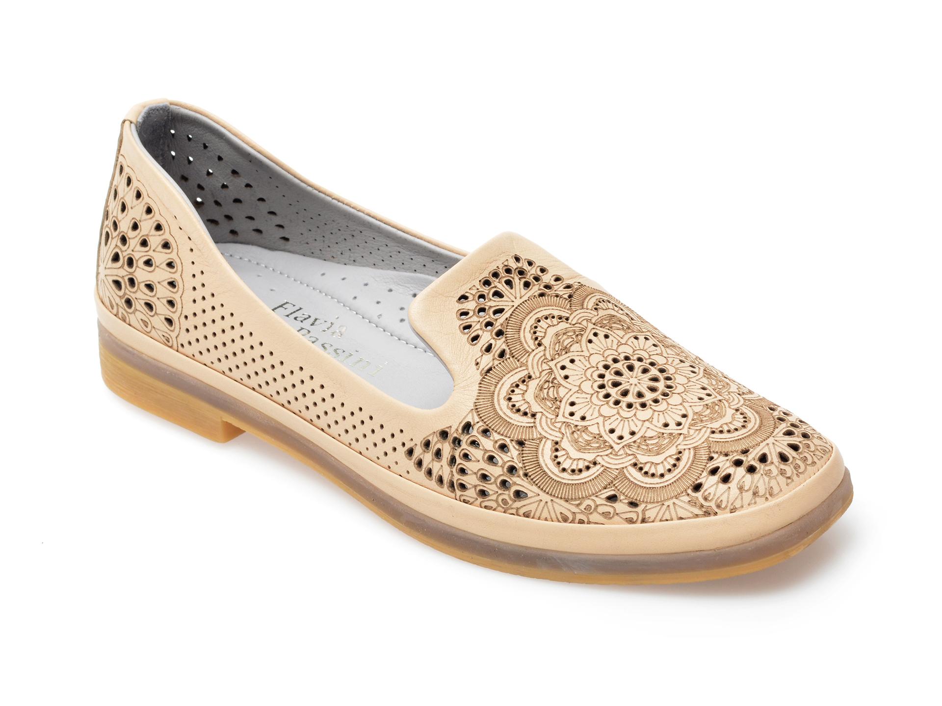 Pantofi FLAVIA PASSINI bej, 1553051, din piele naturala imagine otter.ro 2021