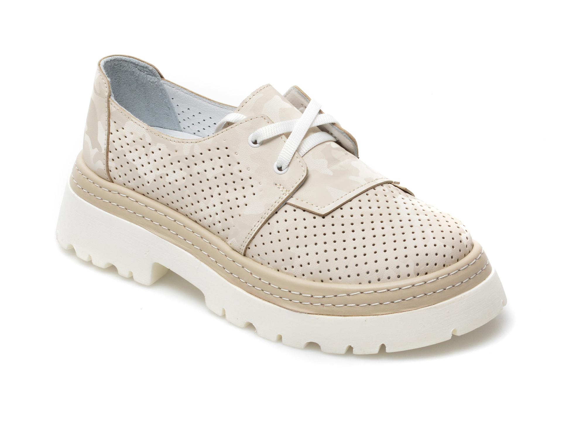 Pantofi FLAVIA PASSINI bej, 1595301, din piele naturala imagine otter.ro 2021