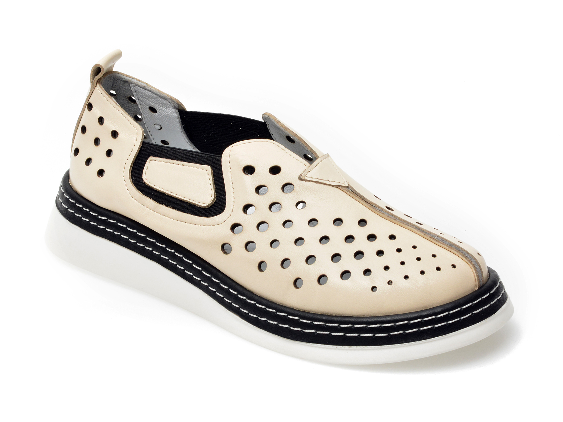 Pantofi FLAVIA PASSINI bej, 159532, din piele naturala imagine otter.ro 2021