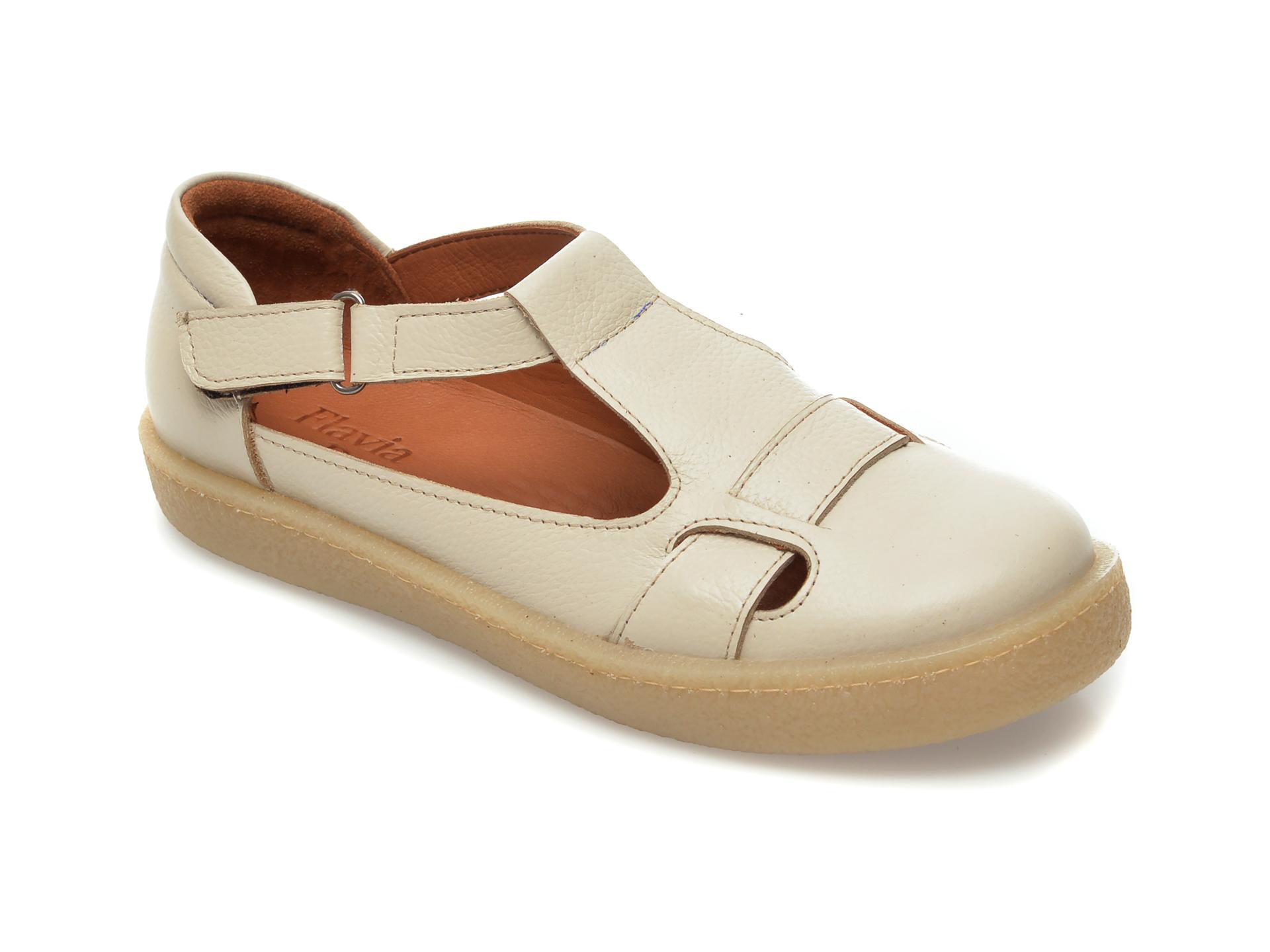 Pantofi FLAVIA PASSINI bej, 20706, din piele naturala imagine otter.ro 2021