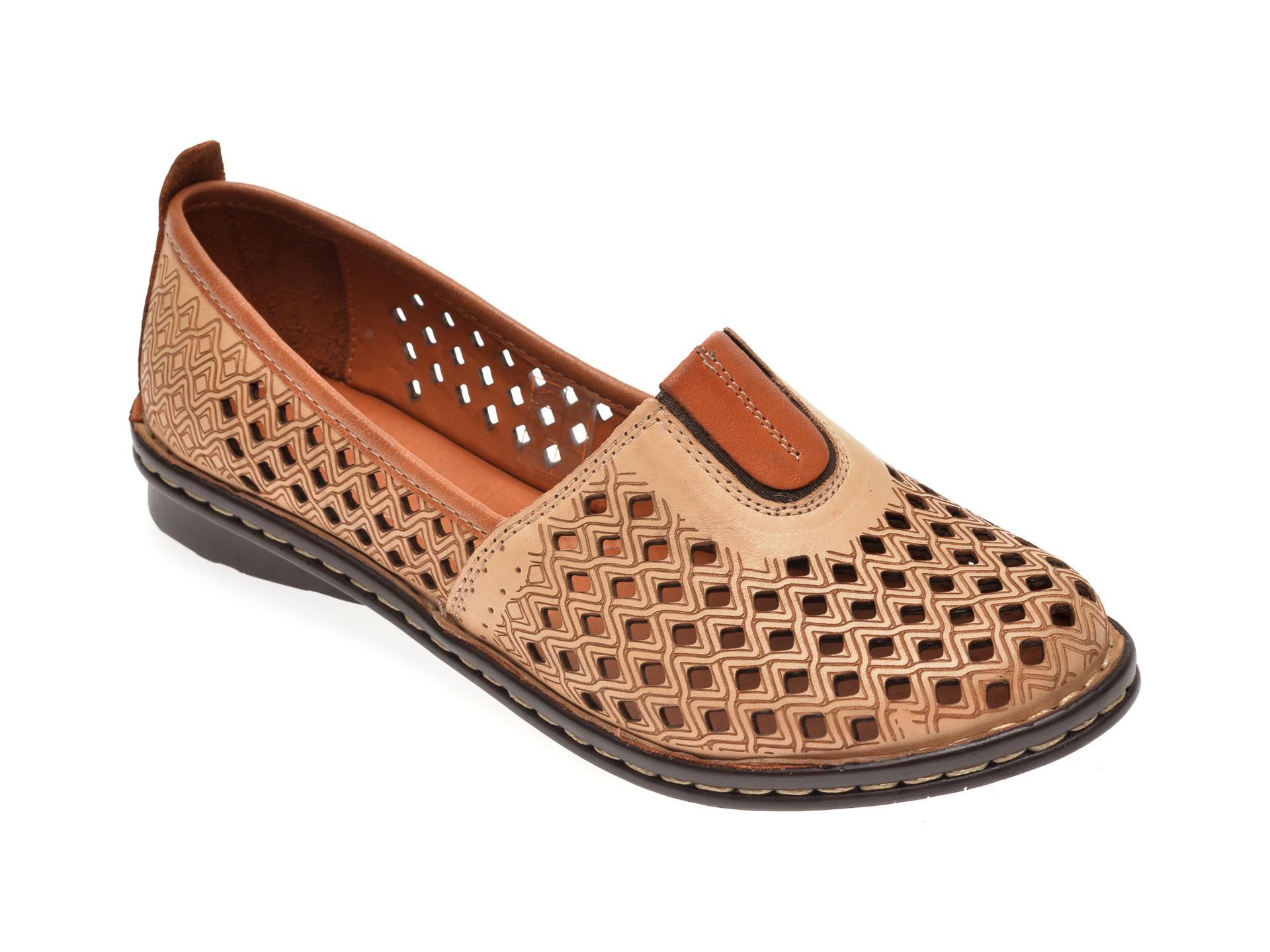 Pantofi FLAVIA PASSINI bej, 21081, din piele naturala