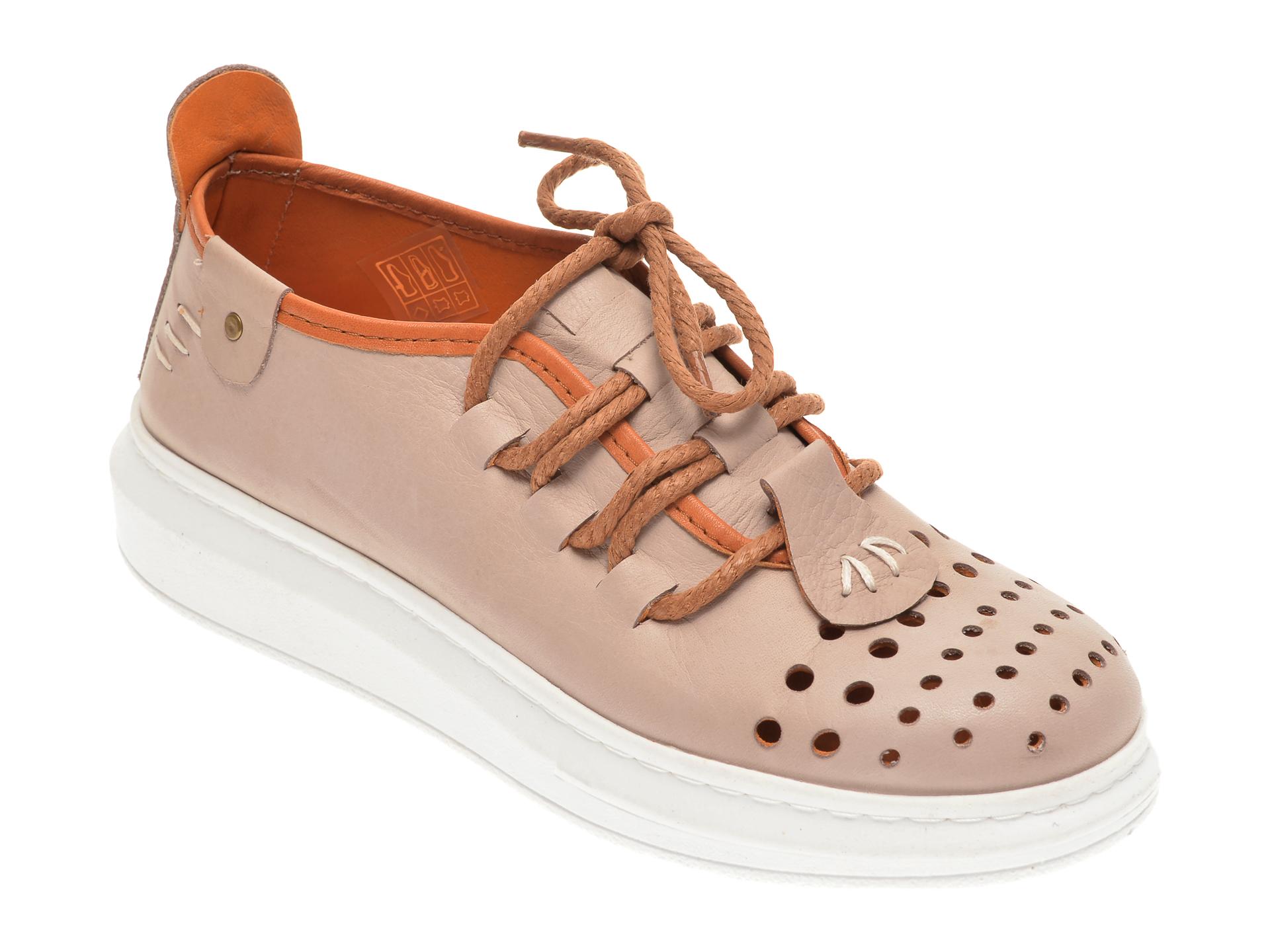 Pantofi FLAVIA PASSINI bej, 2502, din piele naturala