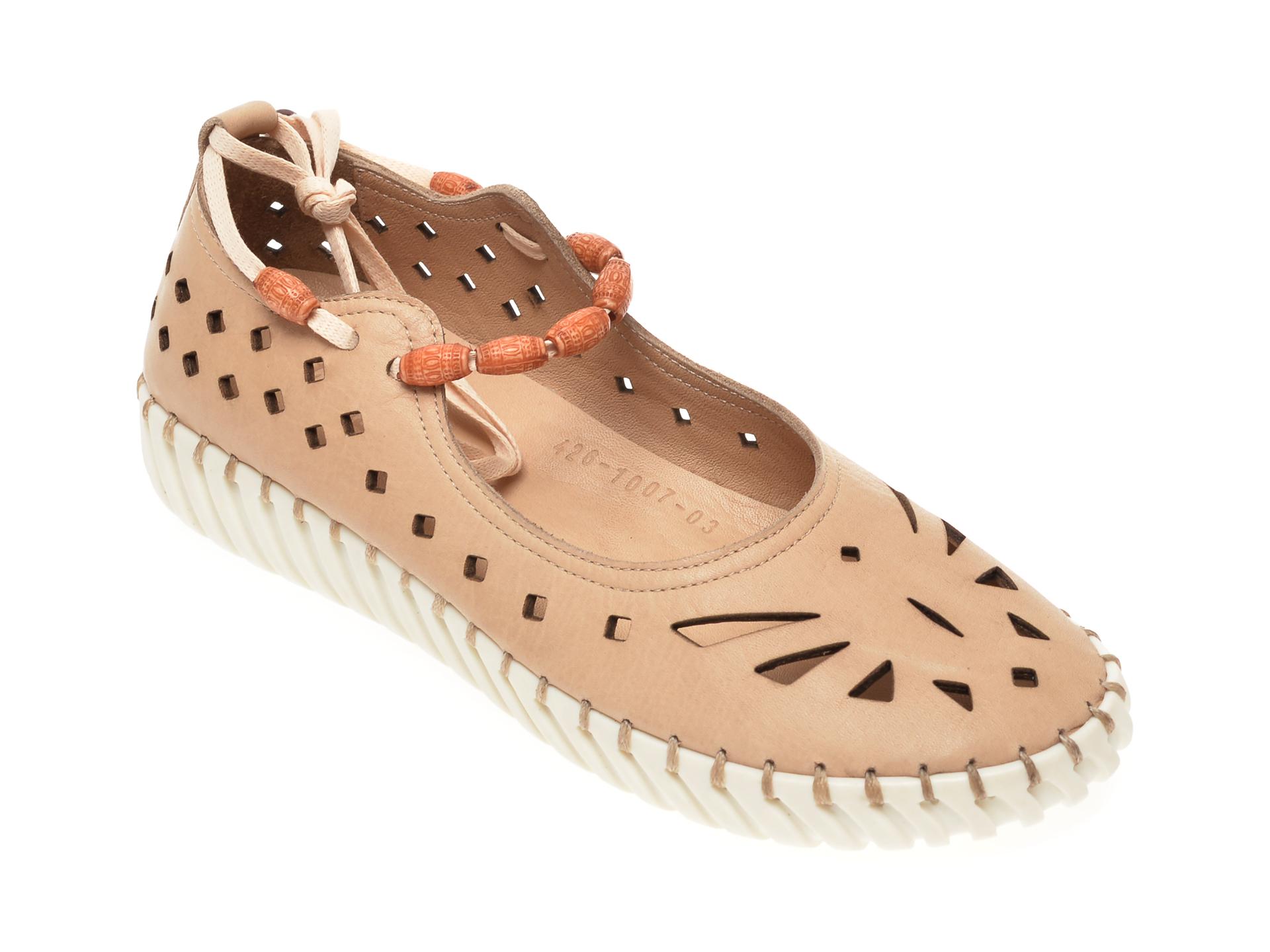 Pantofi FLAVIA PASSINI bej, 4261007, din piele naturala