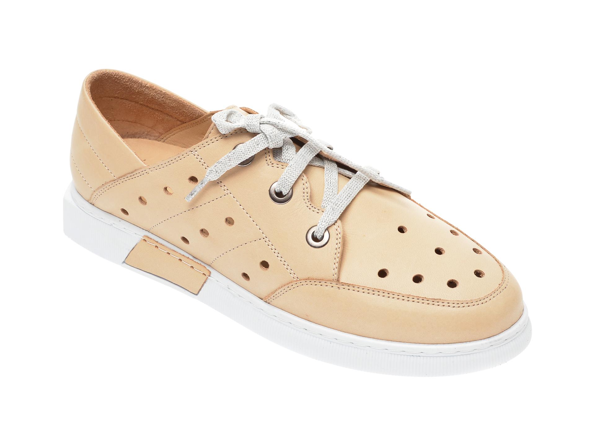 Pantofi FLAVIA PASSINI bej, 645435, din piele naturala