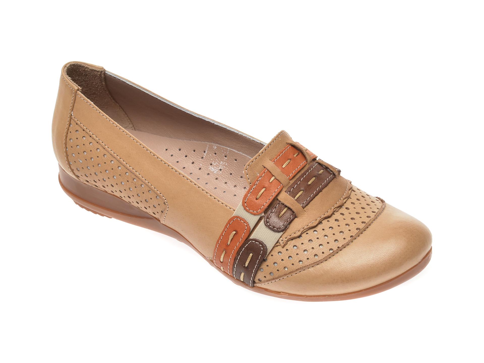 Pantofi FLAVIA PASSINI bej B0304, din piele naturala