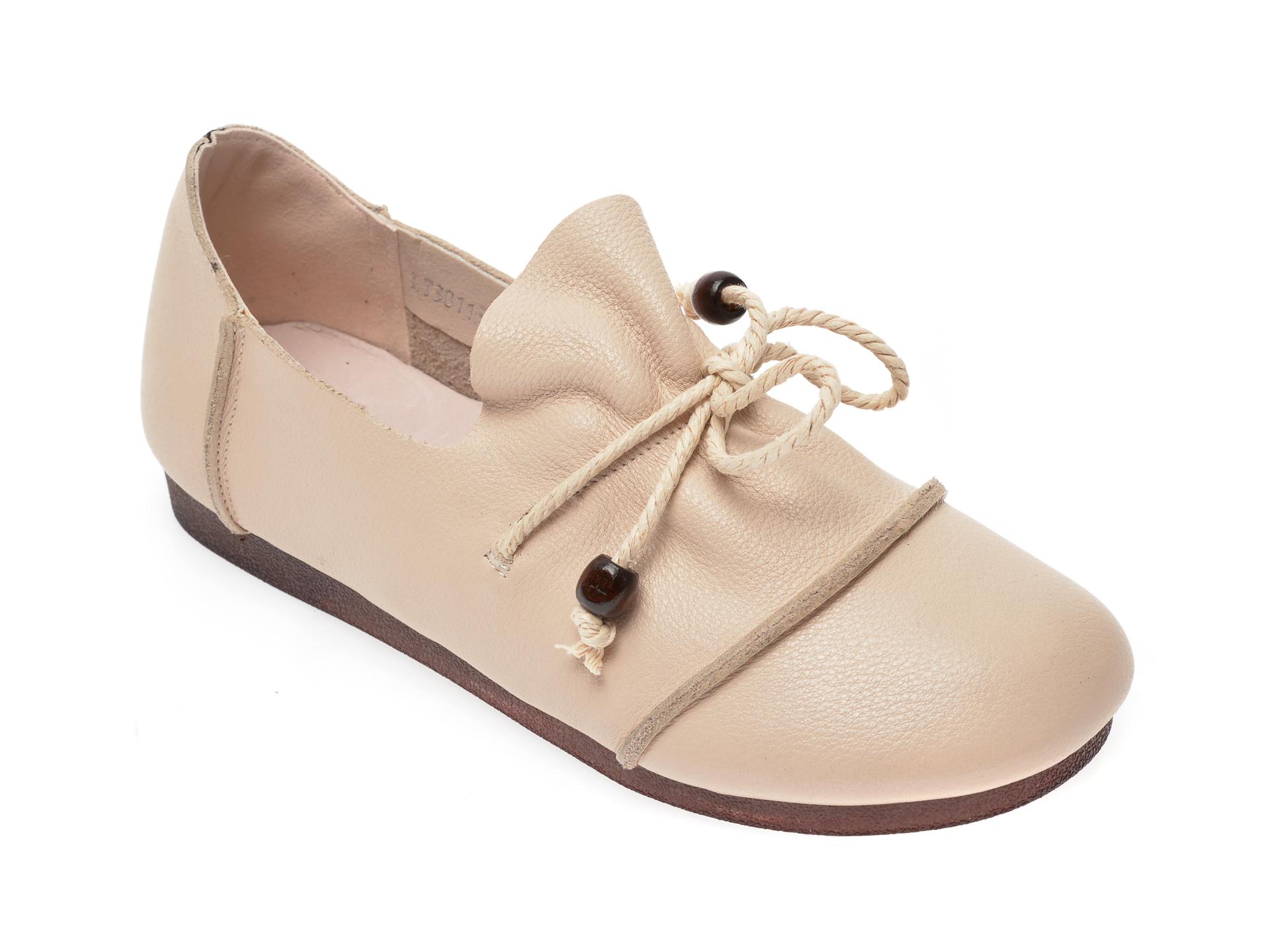 Pantofi FLAVIA PASSINI bej, C3011, din piele naturala