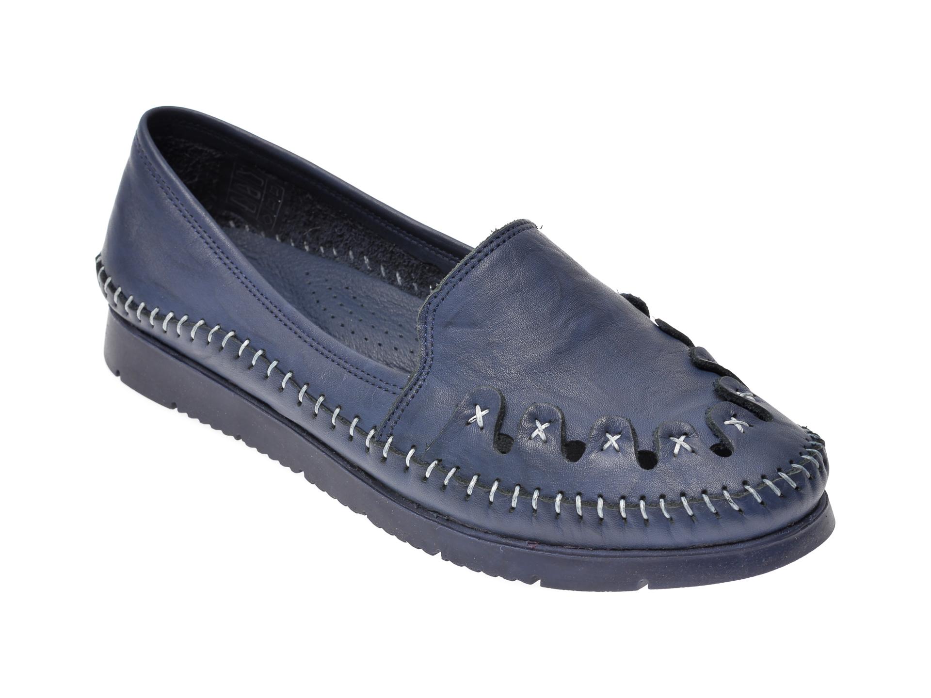 Pantofi FLAVIA PASSINI bleumarin, 1429, din piele naturala imagine