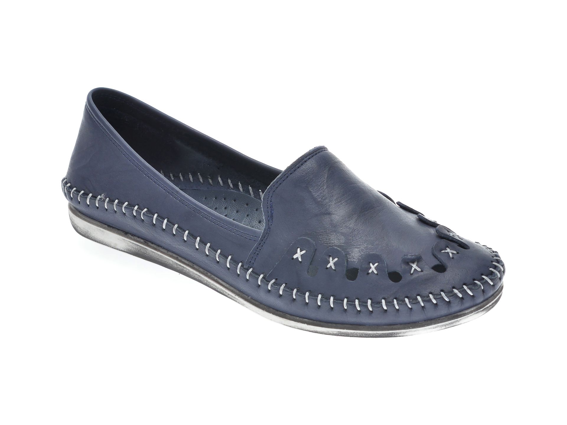 Pantofi FLAVIA PASSINI bleumarin, 429, din piele naturala imagine otter.ro 2021