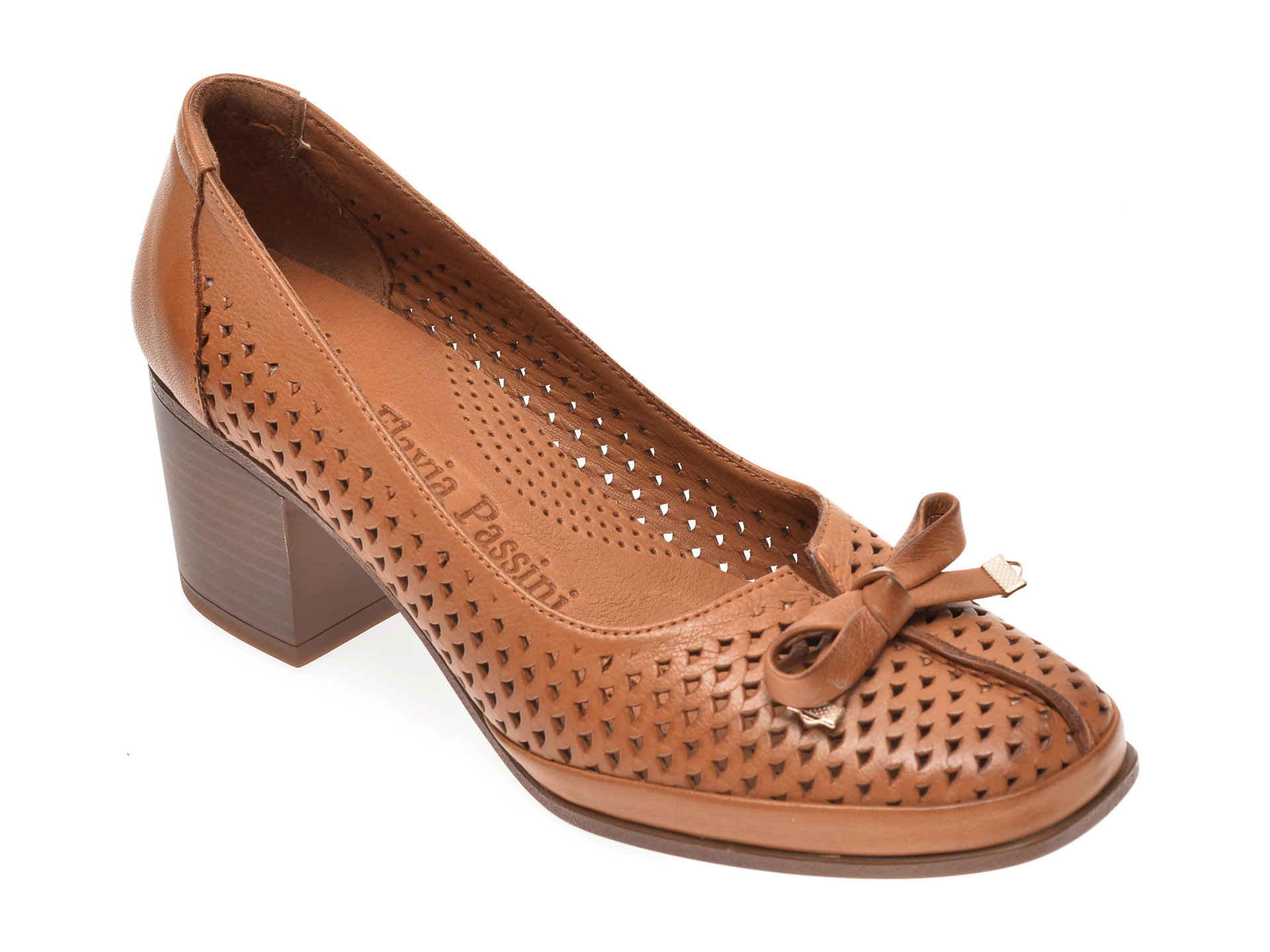 Pantofi FLAVIA PASSINI coniac, 0105114, din piele naturala imagine