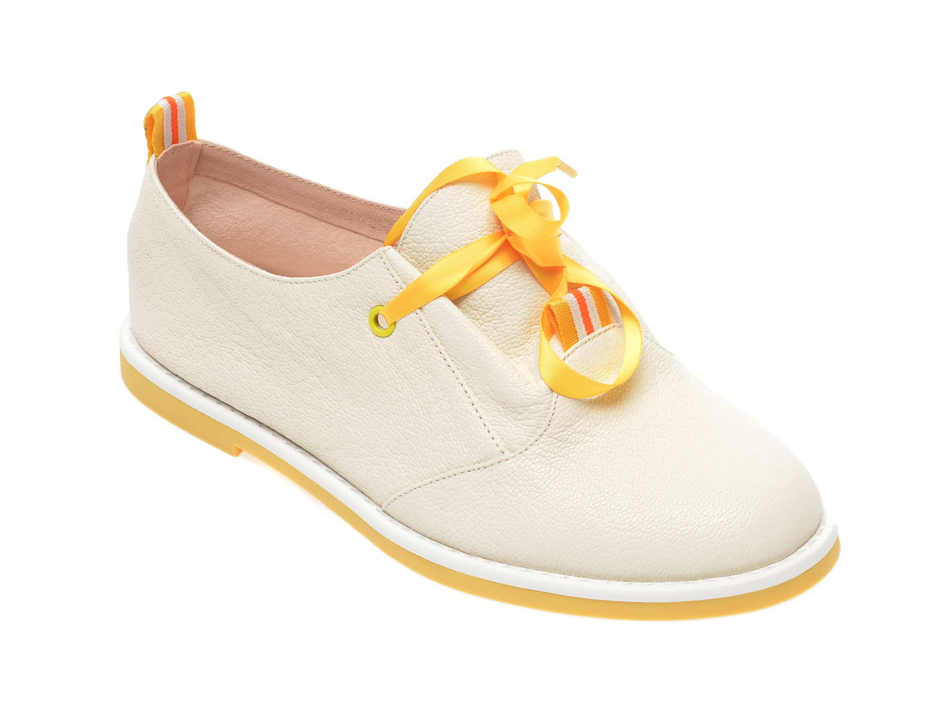 Pantofi FLAVIA PASSINI crem, FH93077, din piele naturala imagine