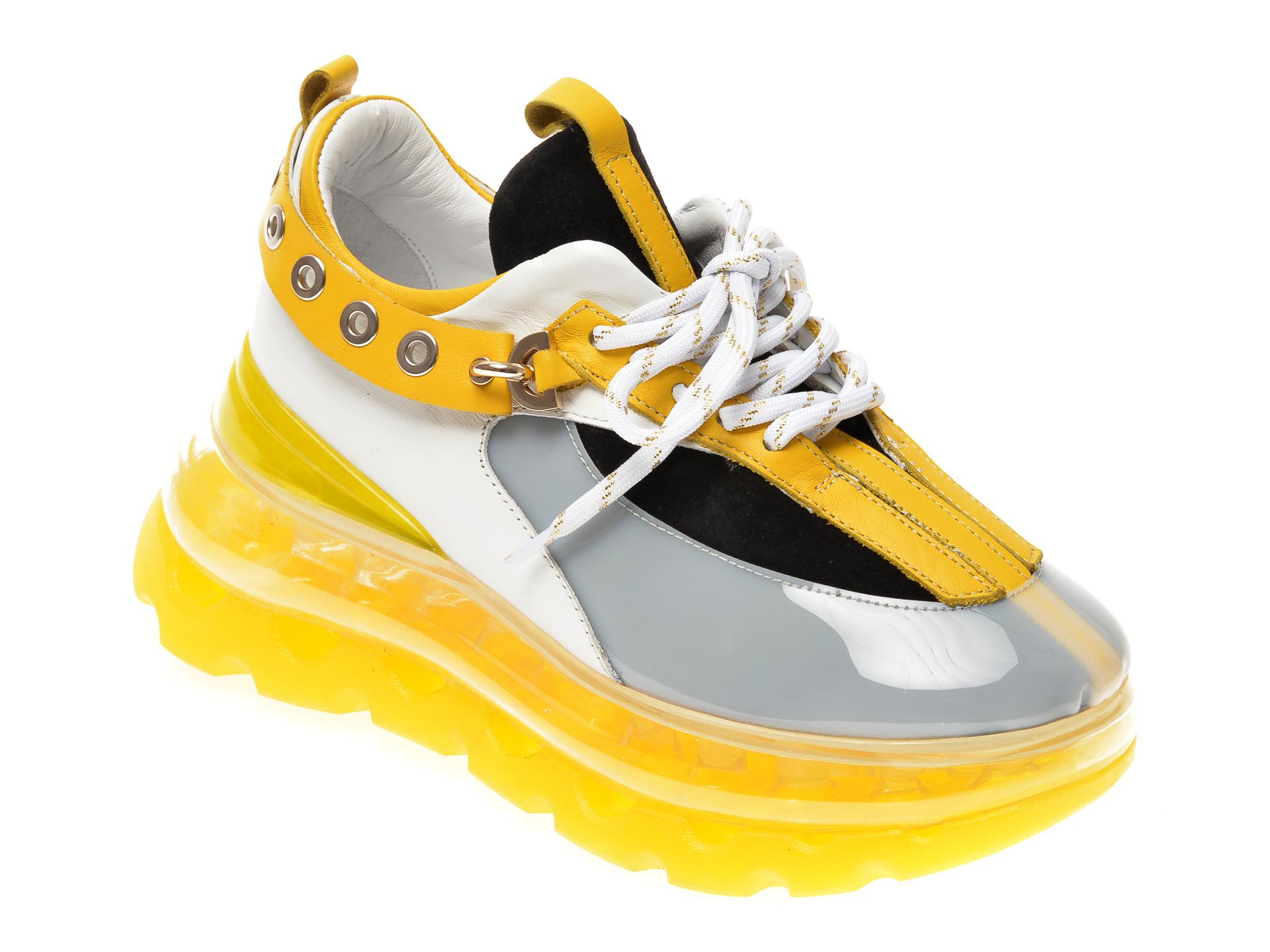 Pantofi FLAVIA PASSINI galbeni, 045296H, din piele naturala