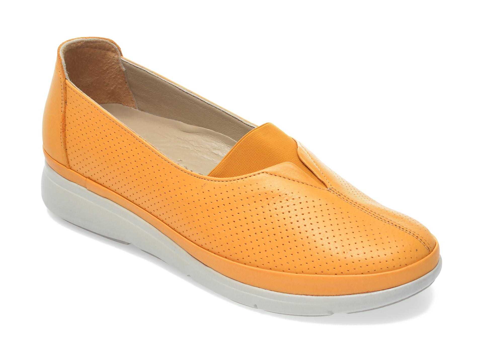Pantofi FLAVIA PASSINI galbeni, 1044501, din piele naturala imagine otter.ro 2021