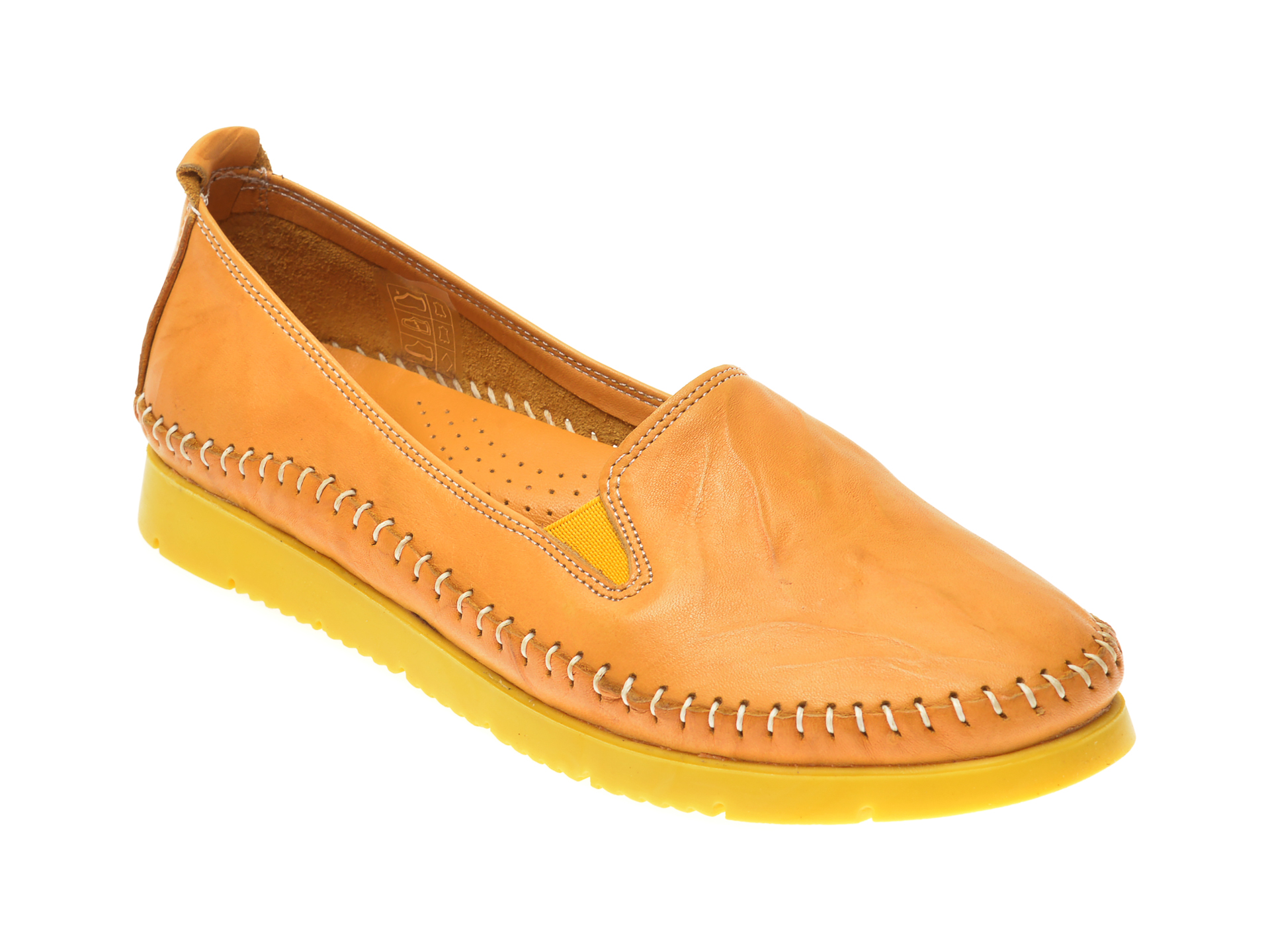 Pantofi FLAVIA PASSINI galbeni, 1433, din piele naturala