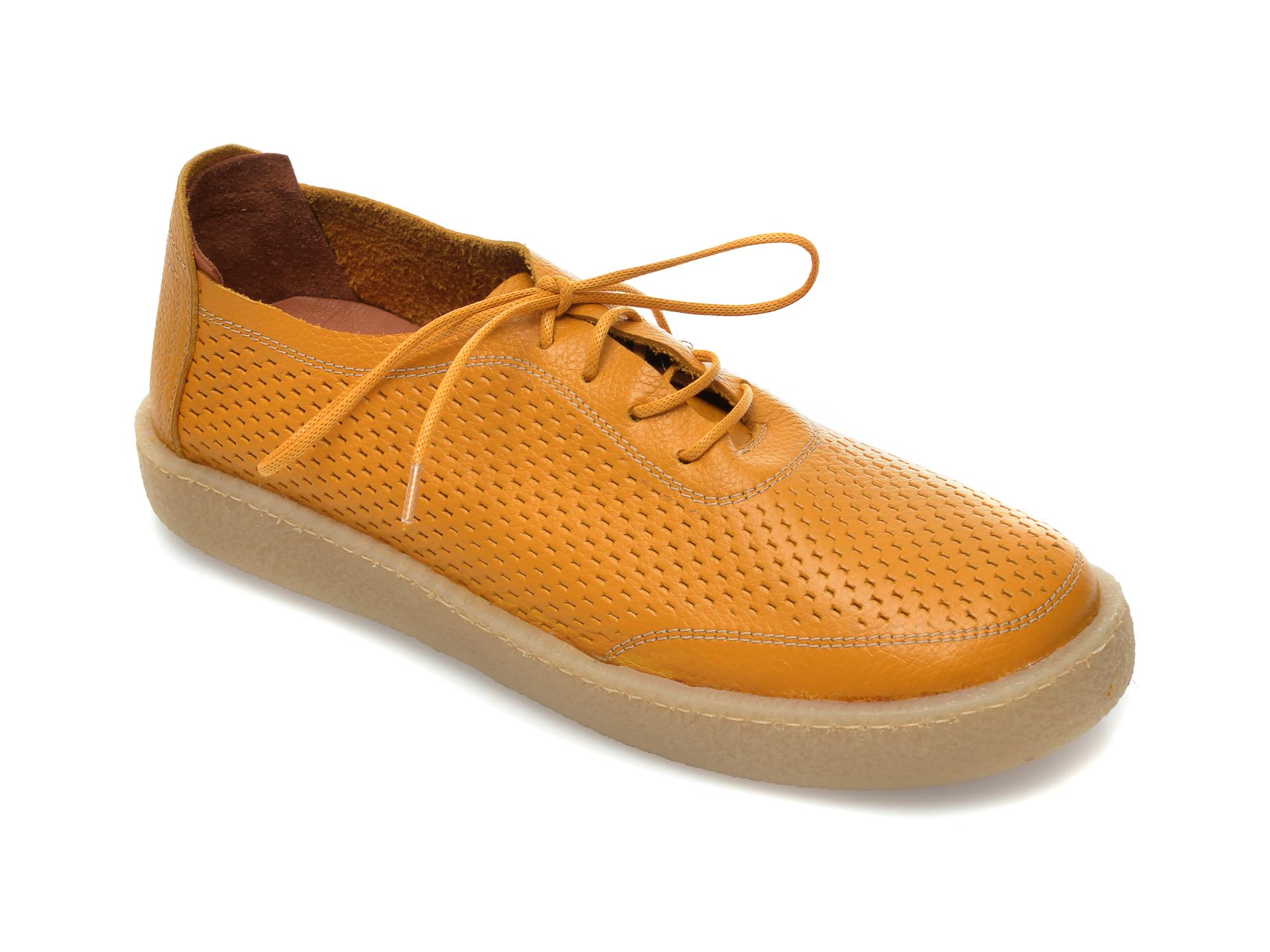 Pantofi FLAVIA PASSINI galbeni, 20712, din piele naturala