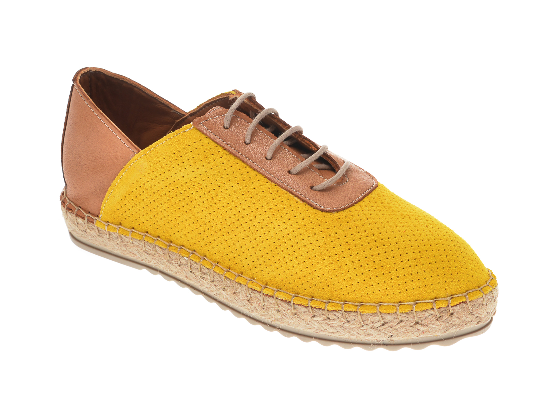 Pantofi FLAVIA PASSINI galbeni, 21Y510, din piele naturala imagine otter.ro