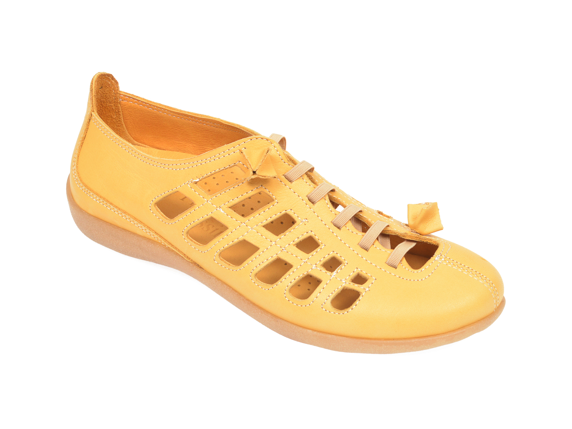 Pantofi FLAVIA PASSINI galbeni, 305, din piele naturala
