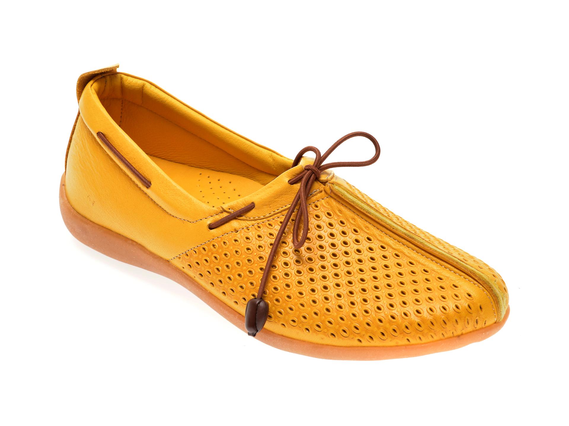 Pantofi FLAVIA PASSINI galbeni, 306, din piele naturala
