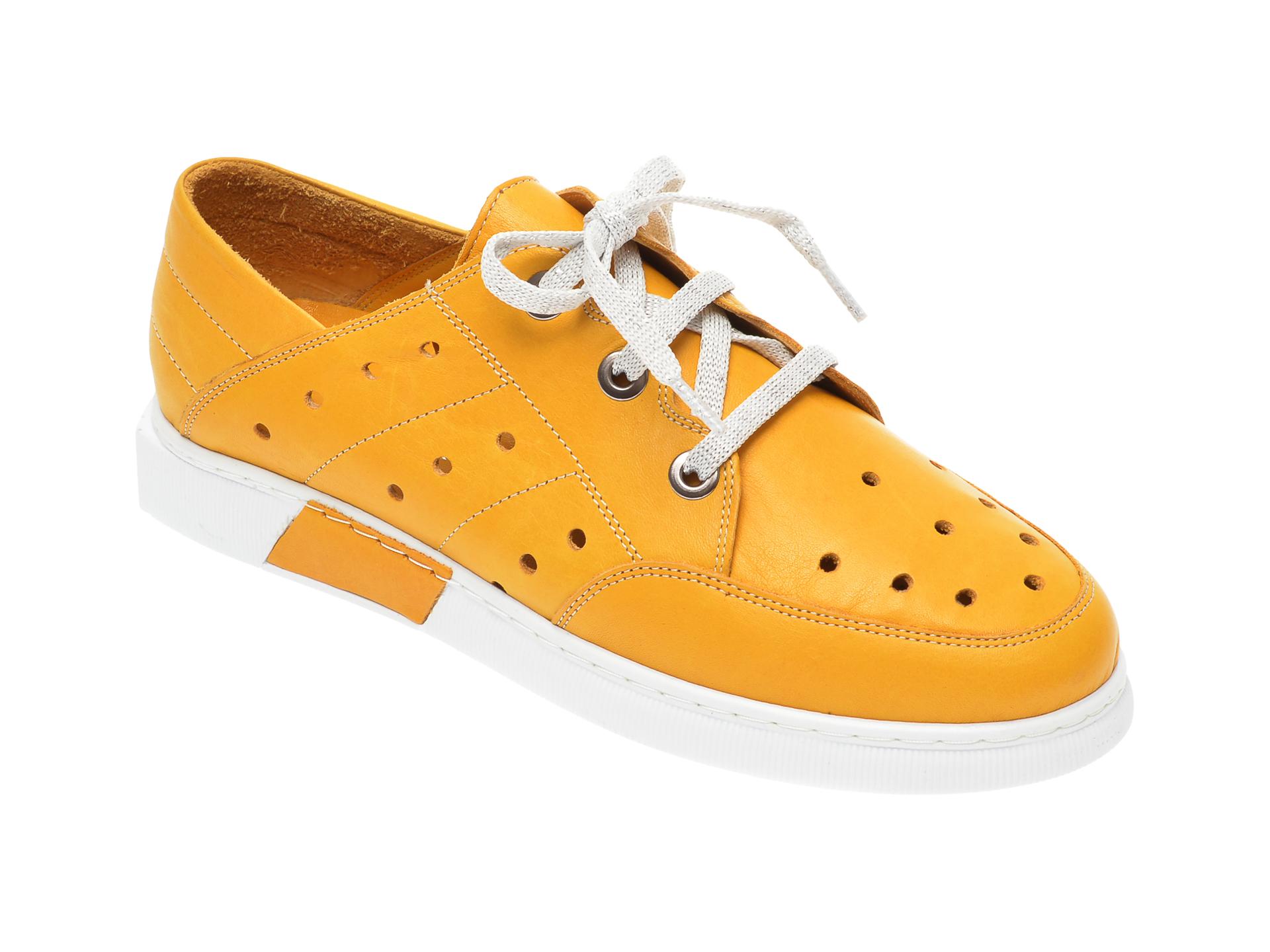 Pantofi FLAVIA PASSINI galbeni, 645435, din piele naturala imagine