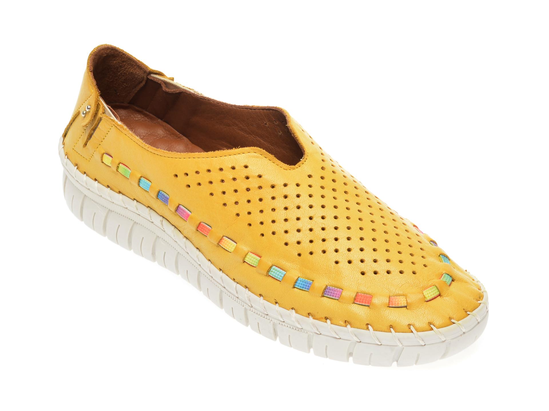 Pantofi FLAVIA PASSINI galbeni, 7763547, din piele naturala imagine