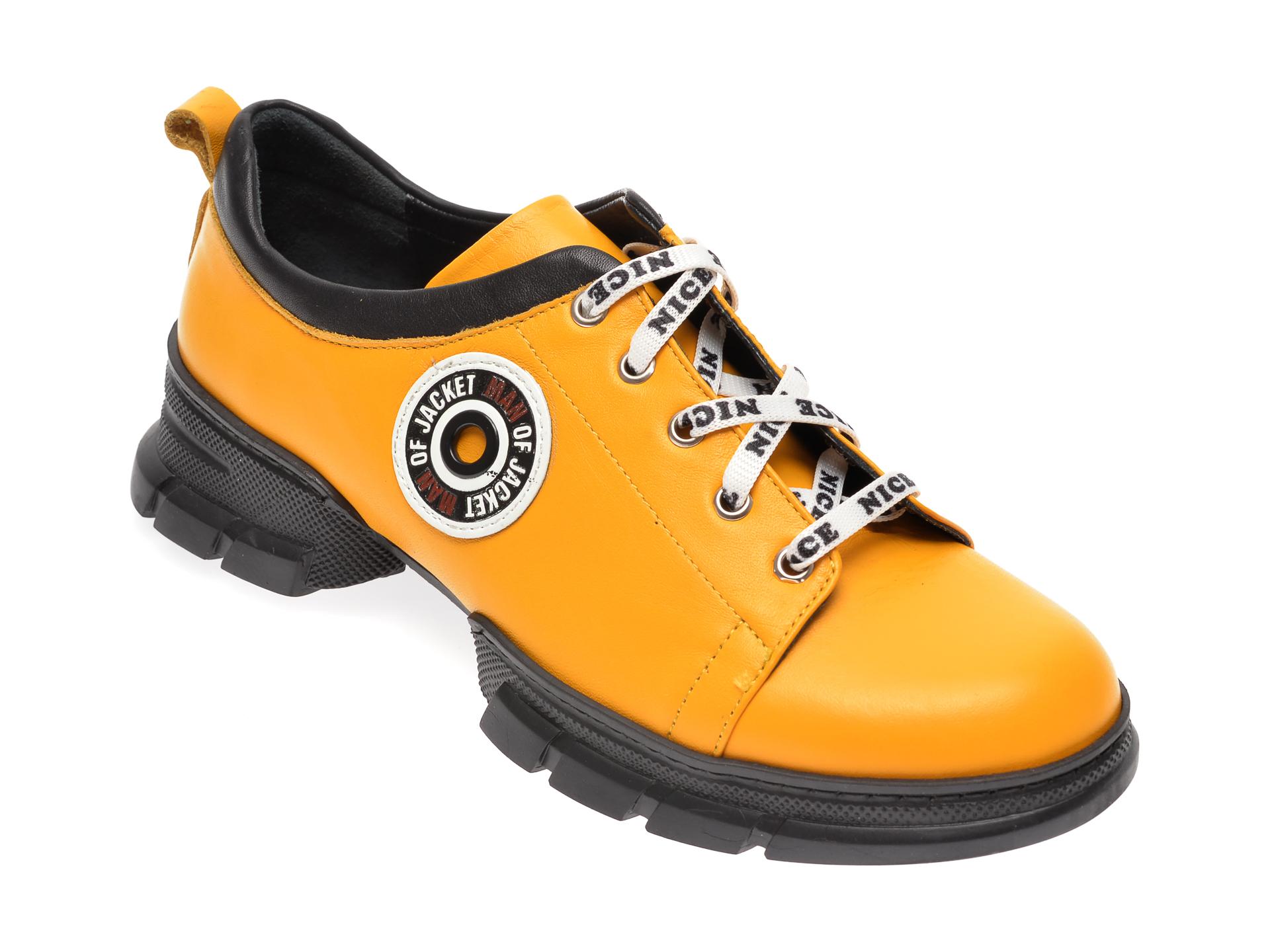 Pantofi FLAVIA PASSINI galbeni, 80732, din piele naturala