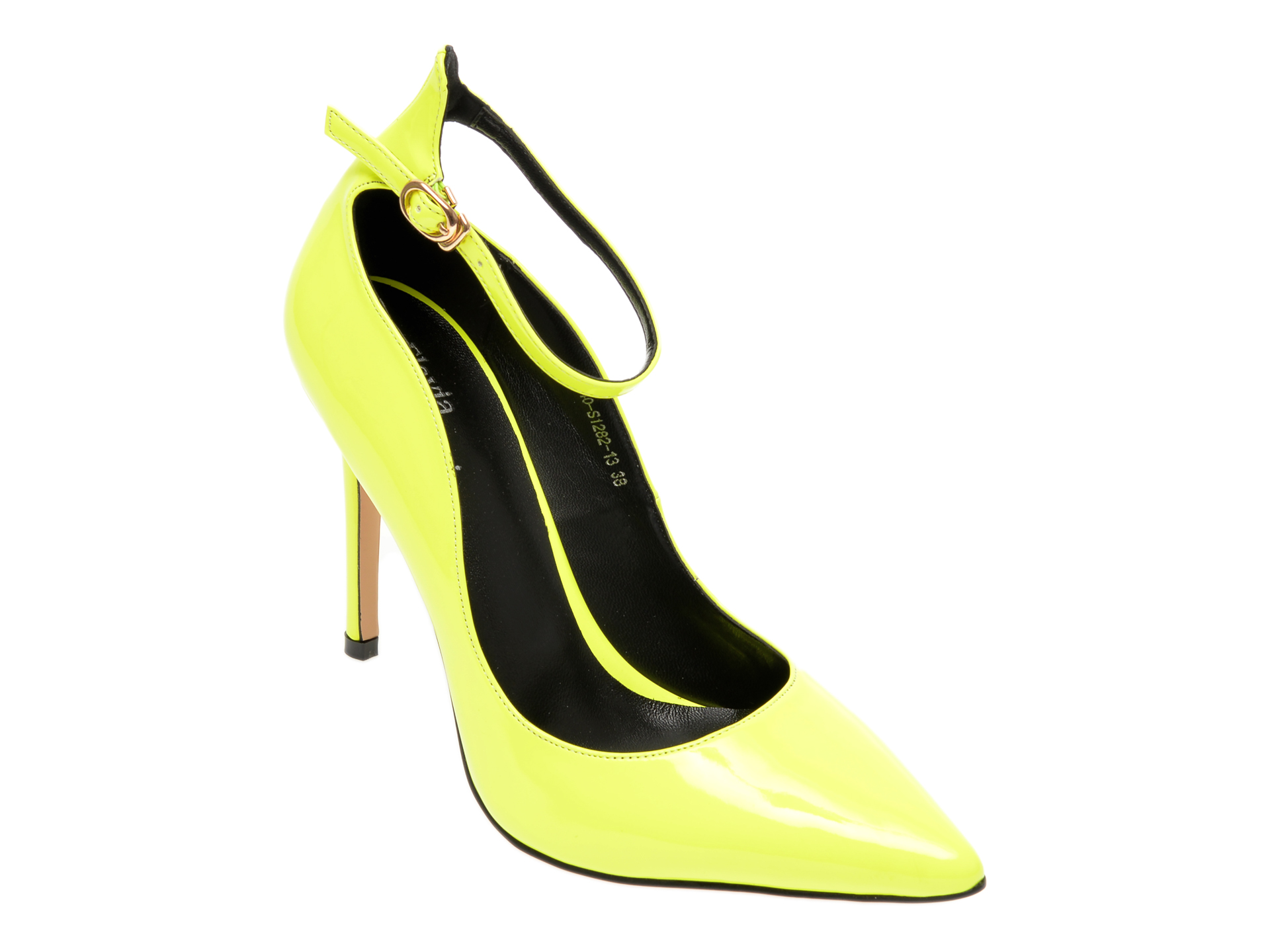 Pantofi FLAVIA PASSINI galbeni, D440S12, din piele ecologica imagine