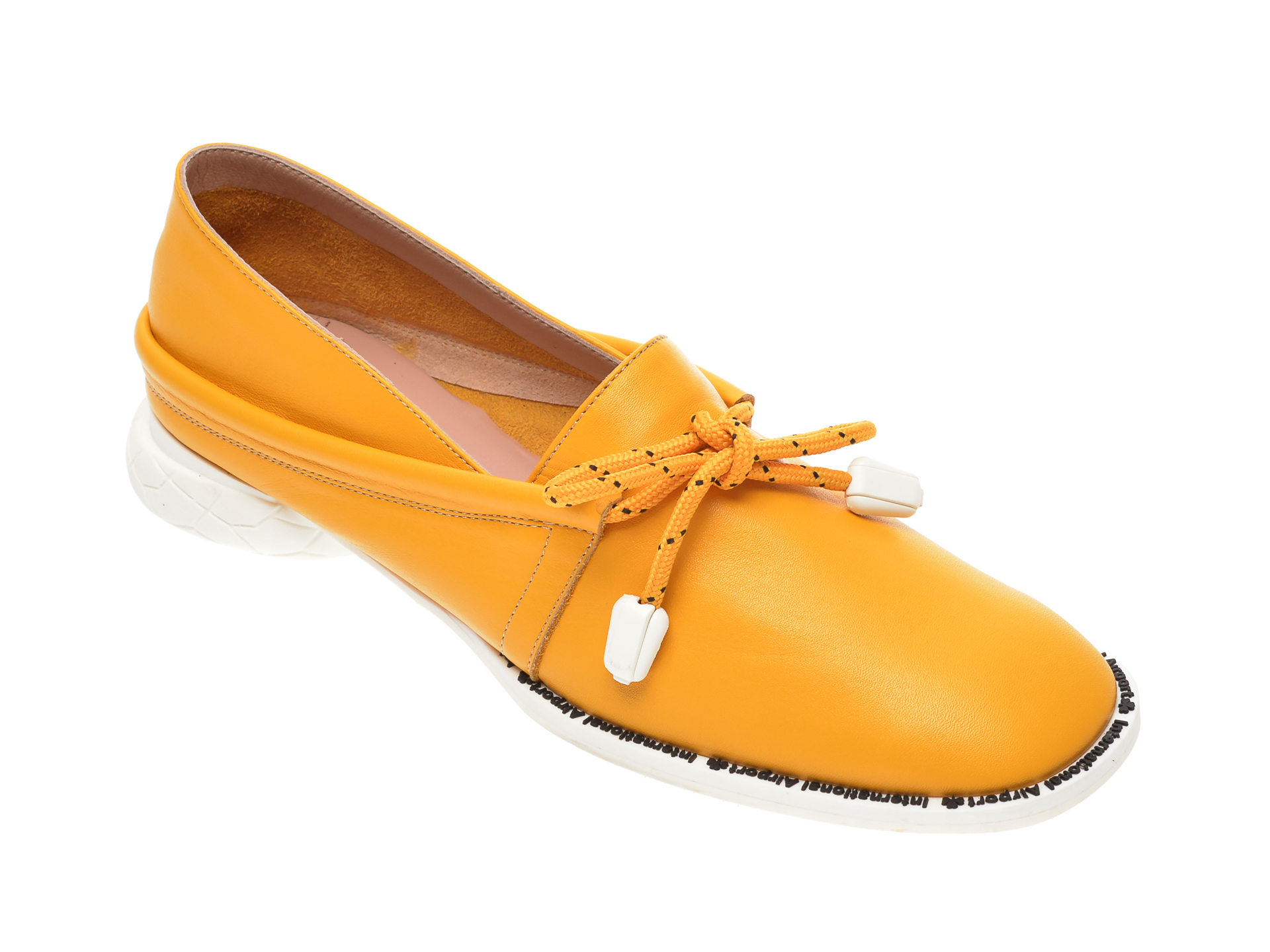 Pantofi FLAVIA PASSINI galbeni, GM4515, din piele naturala