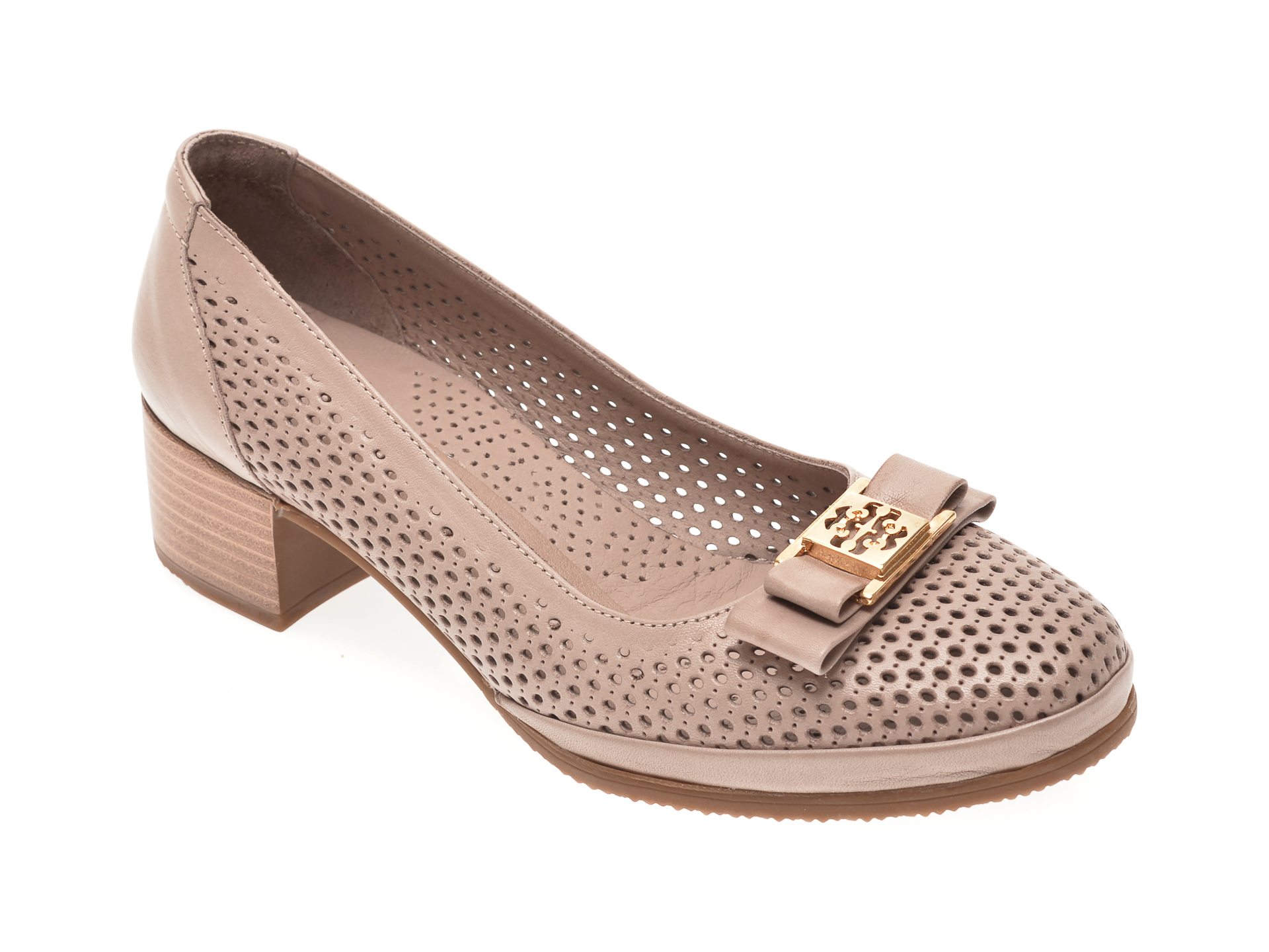 Pantofi FLAVIA PASSINI gri, 0105081, din piele naturala imagine